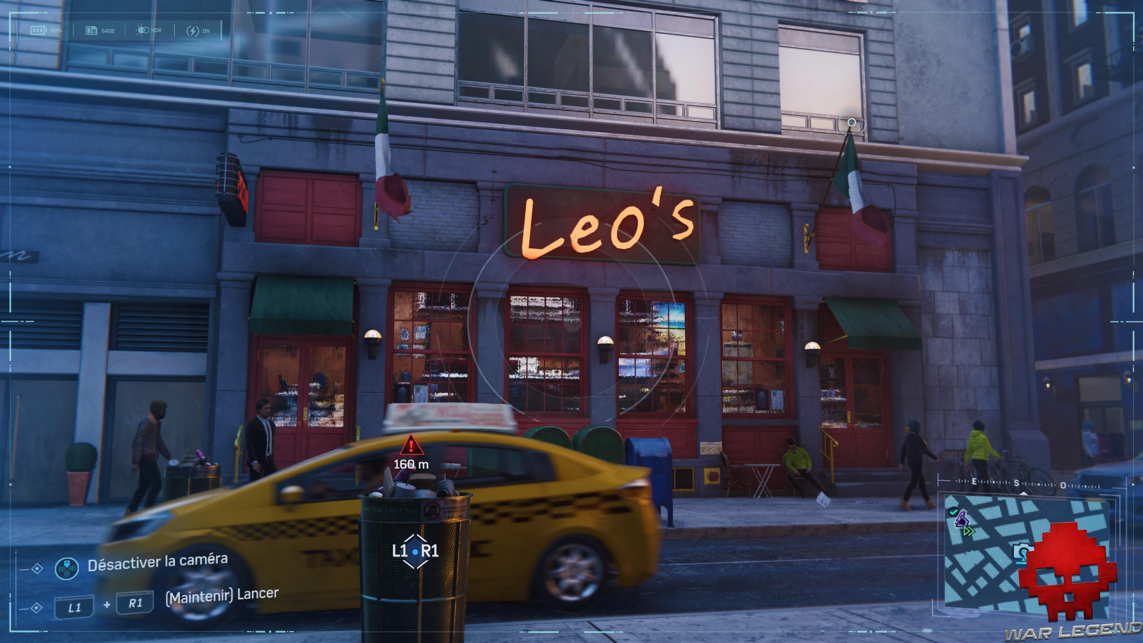 Spider-Man photo secrète Pizzeria Leo's
