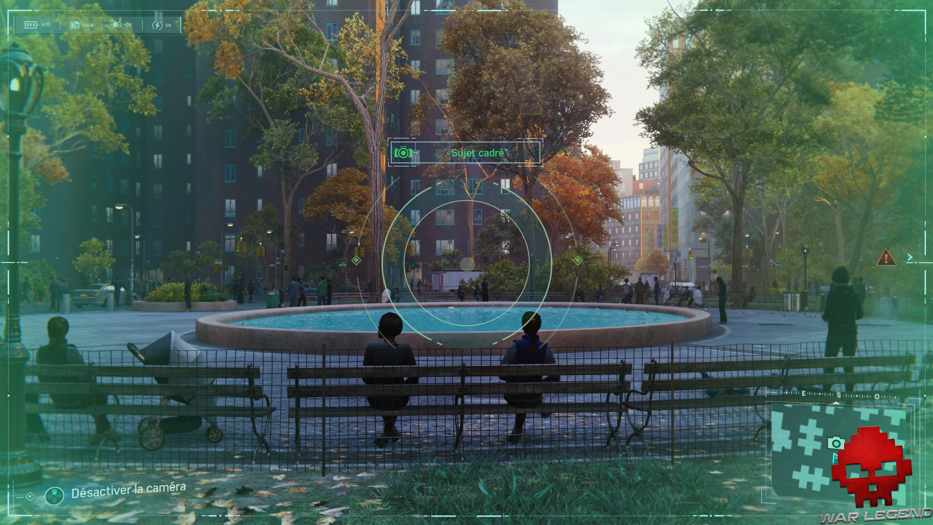 Spider-Man photo secrète Stuyvesant town Fountain
