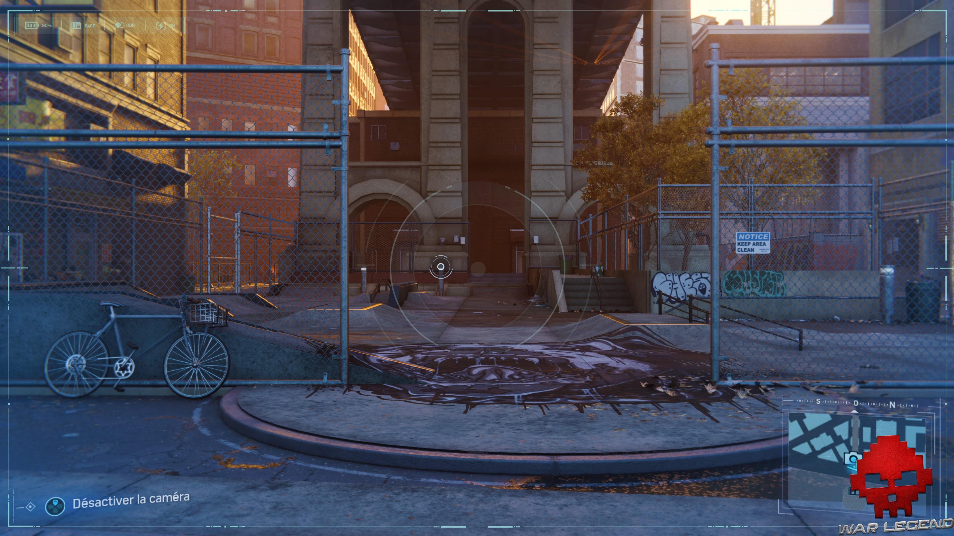 Spider-Man photo secrète skatepark de coleman's square