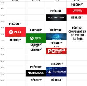 Planning E3 2018 WL