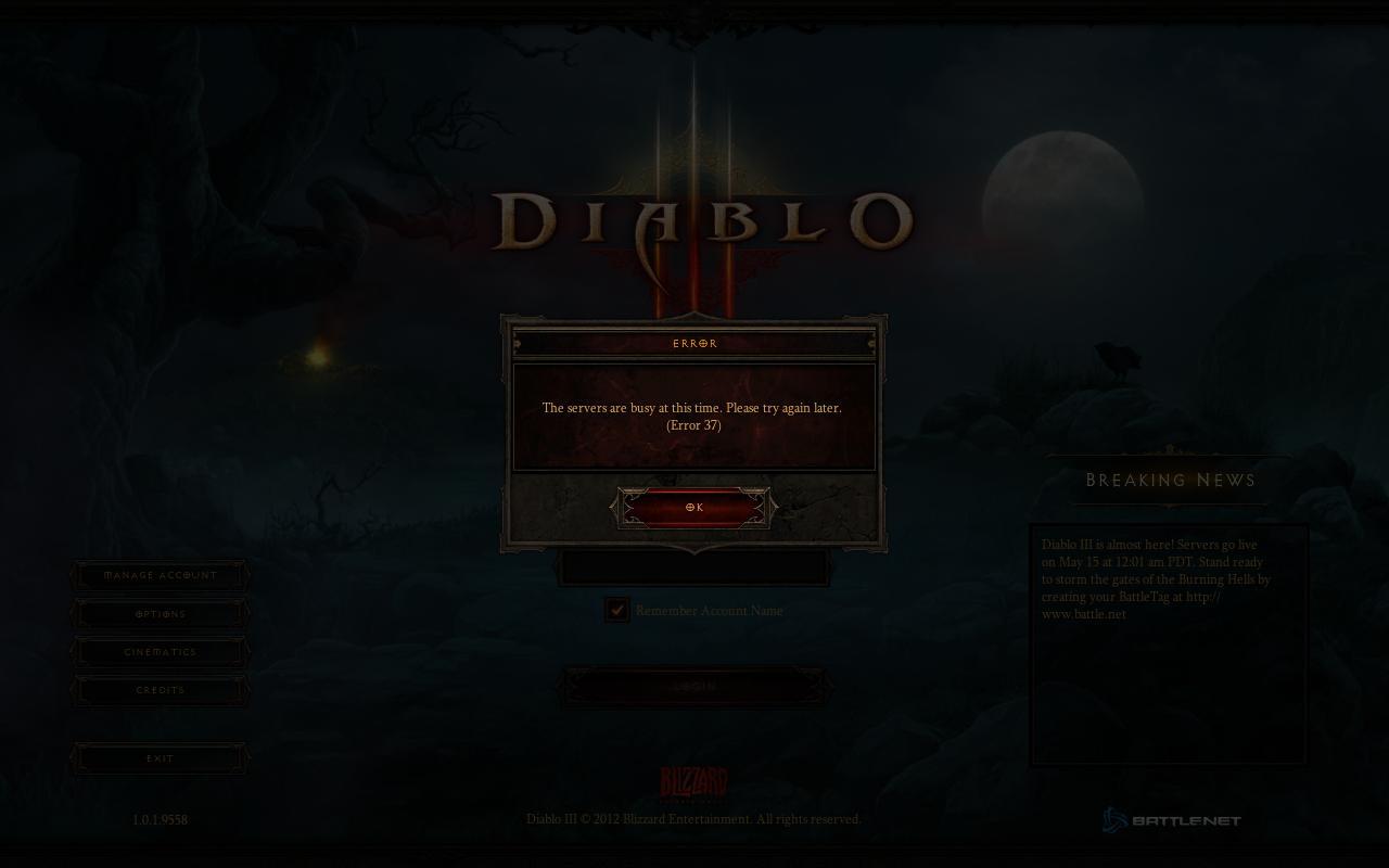 Problème connexion Diablo III
