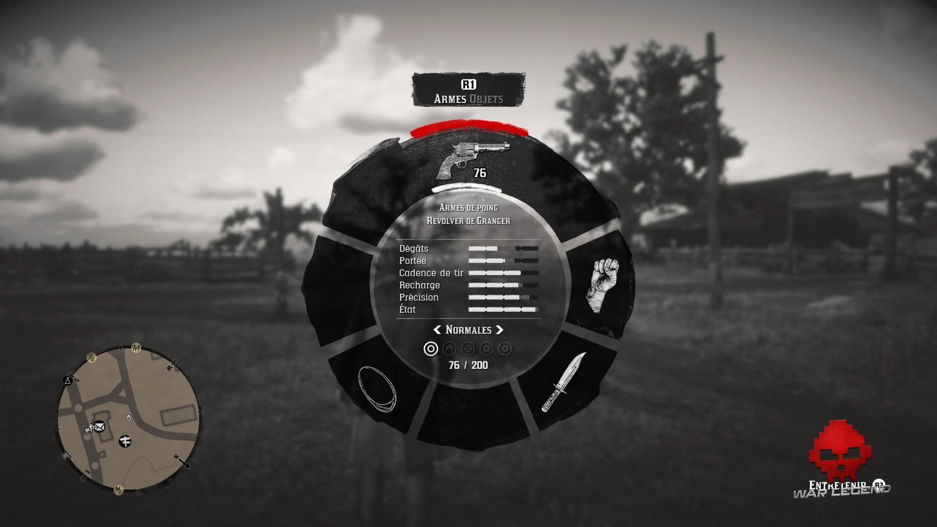Guide red dead redemption 2 les armes roue des armes