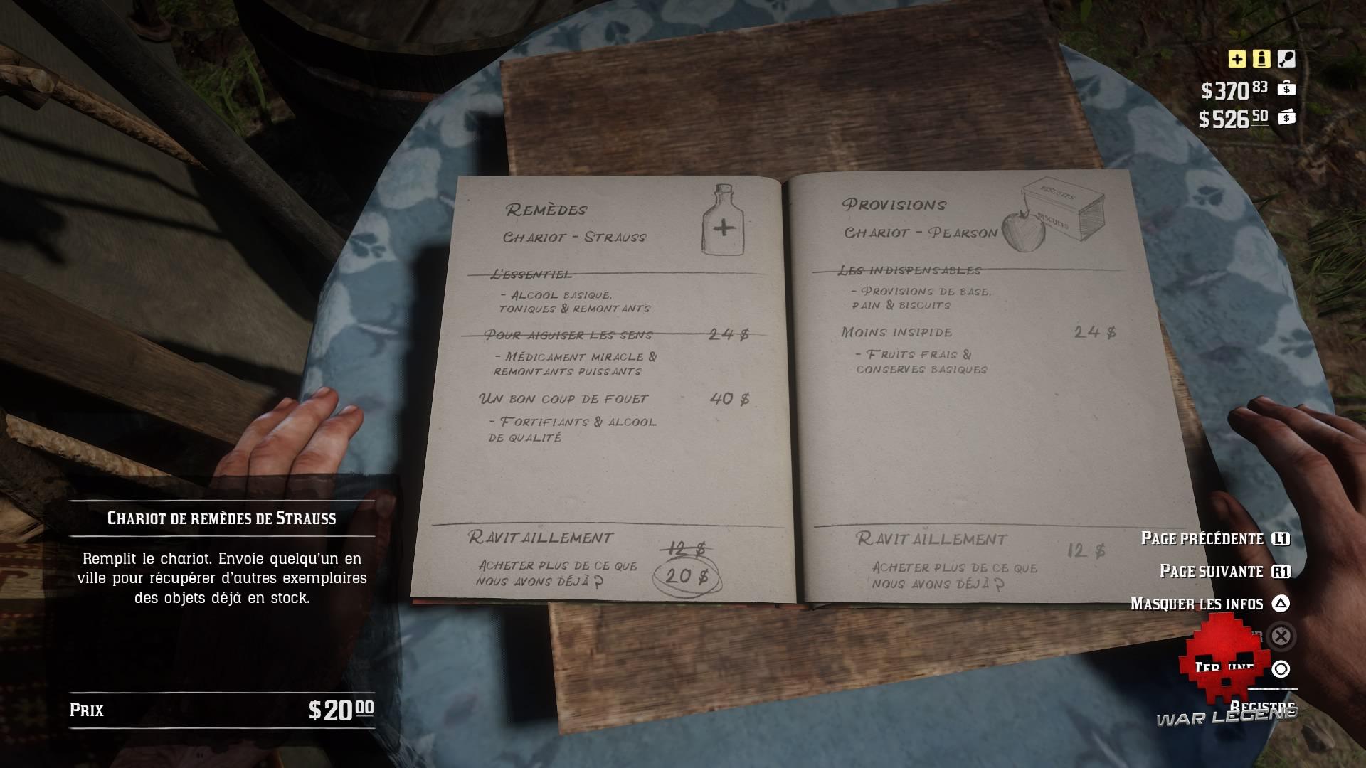 guide red dead redemption 2 guide du camp - Registre des ressources