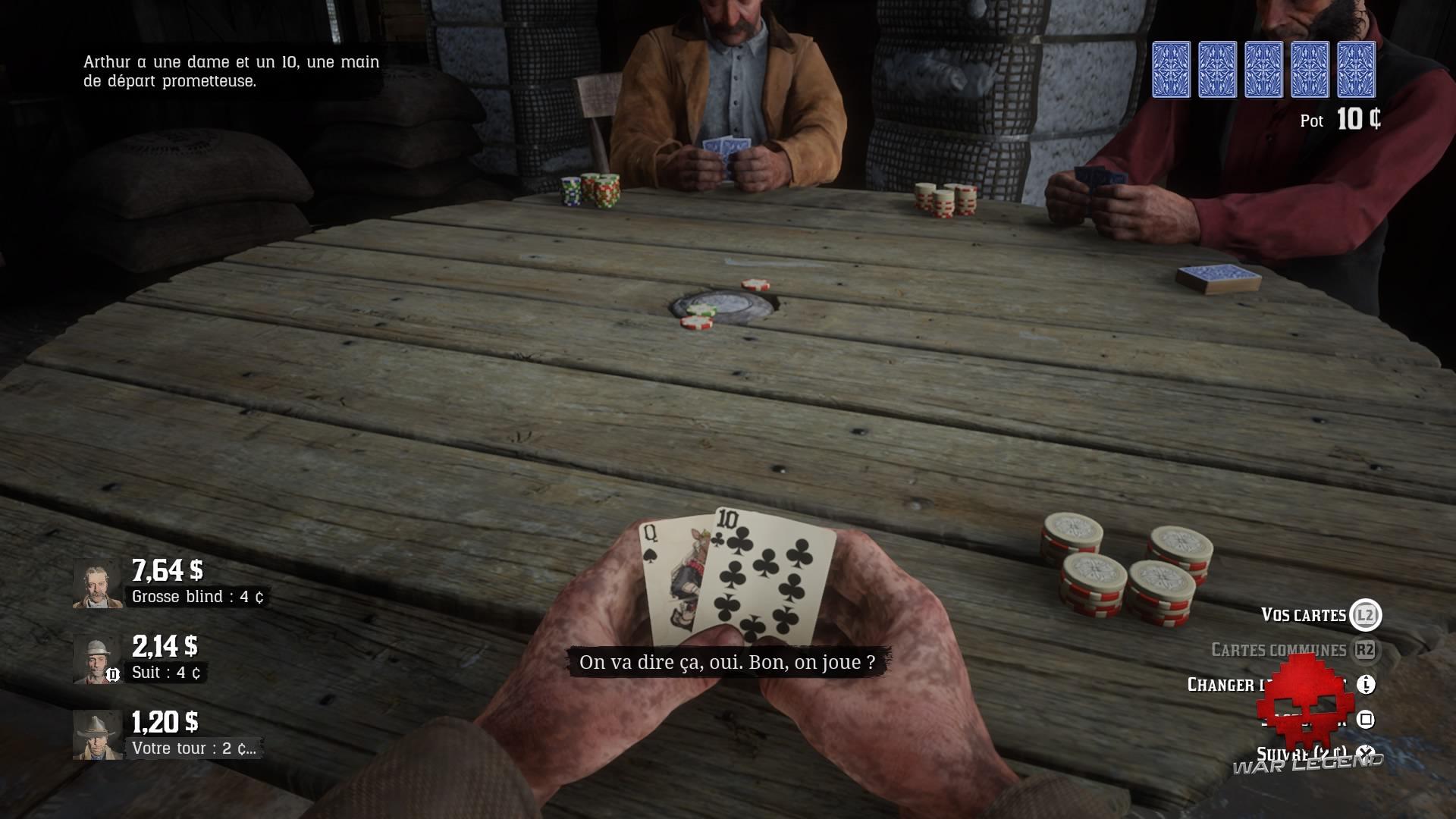 Red Dead Redemption 2 celui qui n'est pas sans péché Partie de Poker