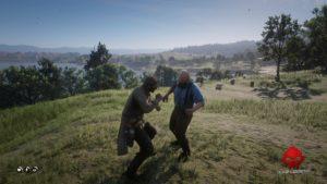 Red Dead Redemption 2 celui qui n'est pas sans péché Une bagarre contre une brute