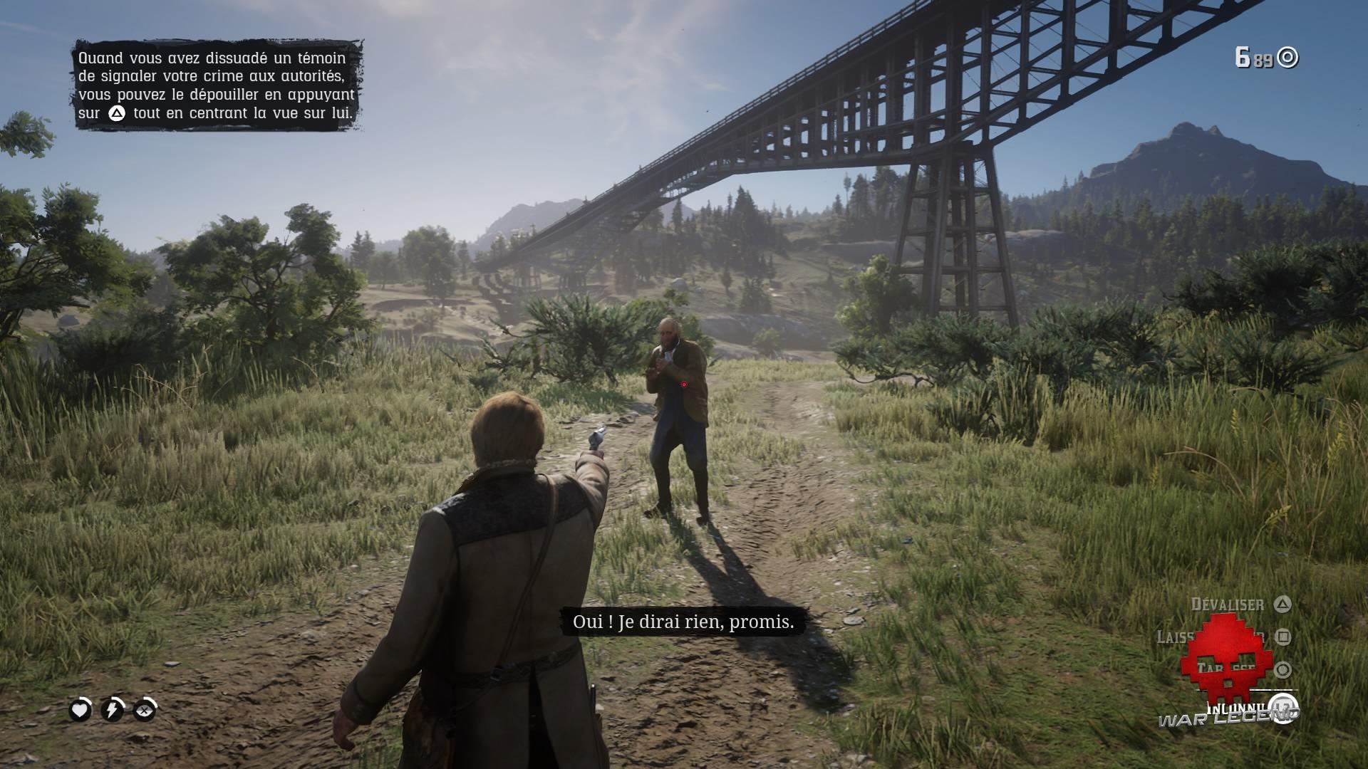 Red Dead Redemption 2 celui qui n'est pas sans péché Menacer un témoin