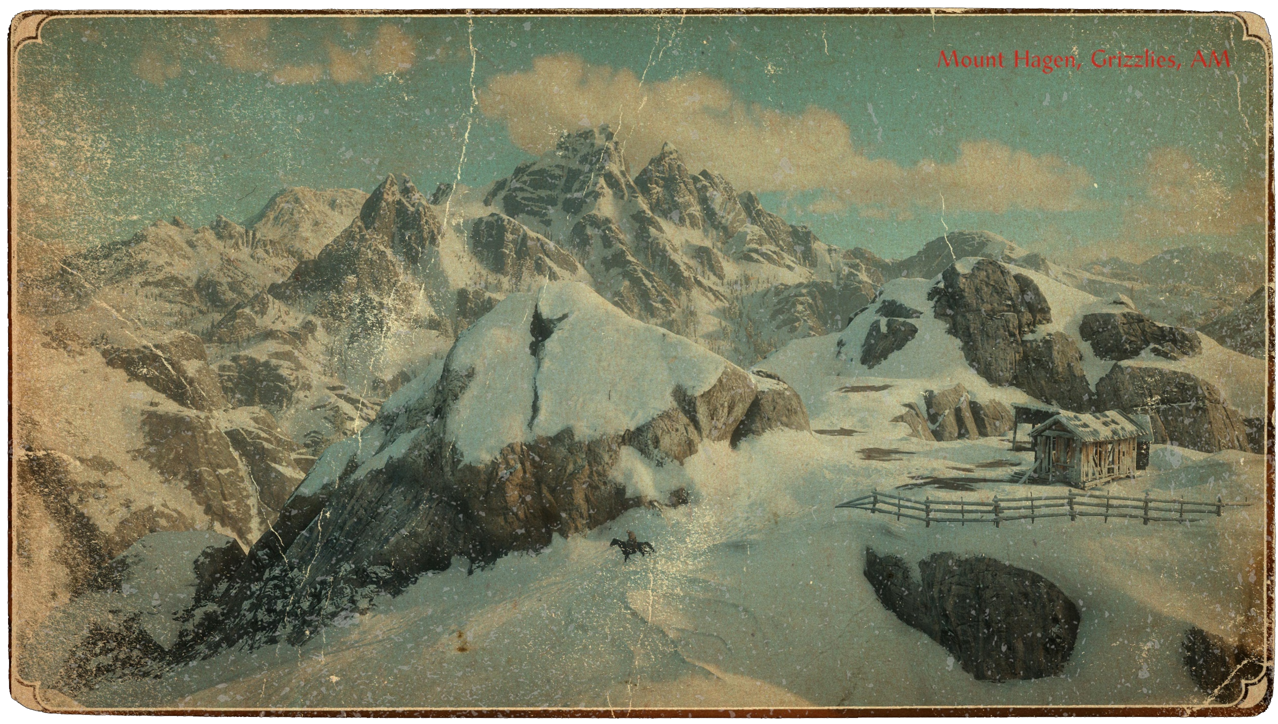 carte postale Mont Hagen