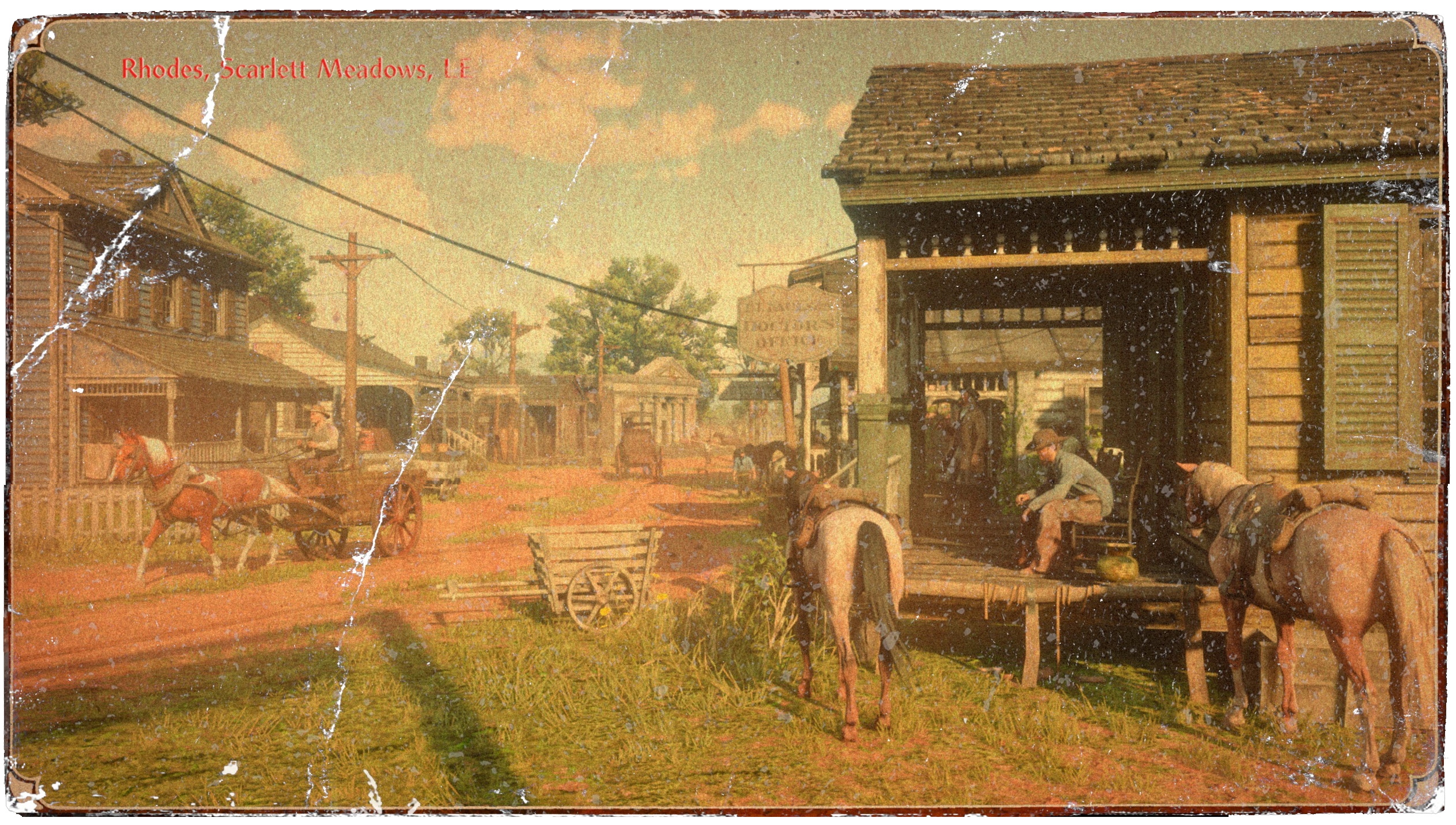carte postale Rhodes