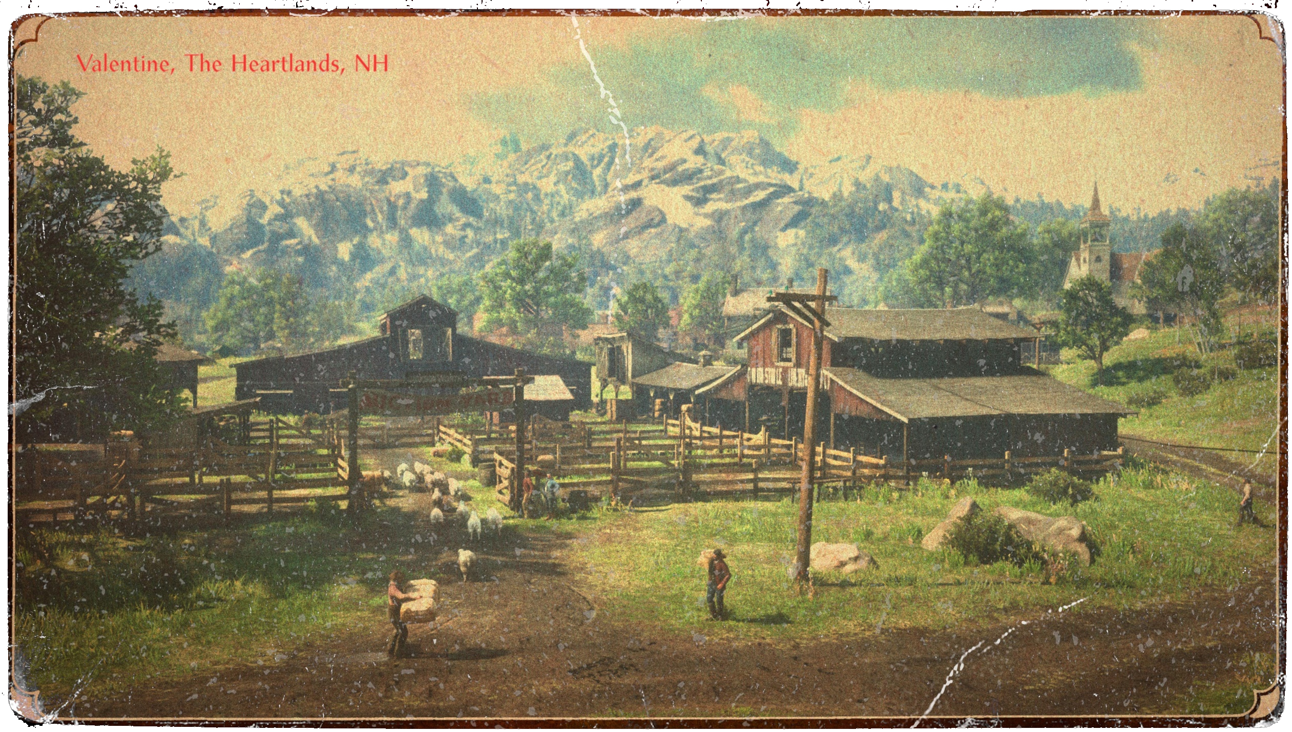 carte postale Valentine