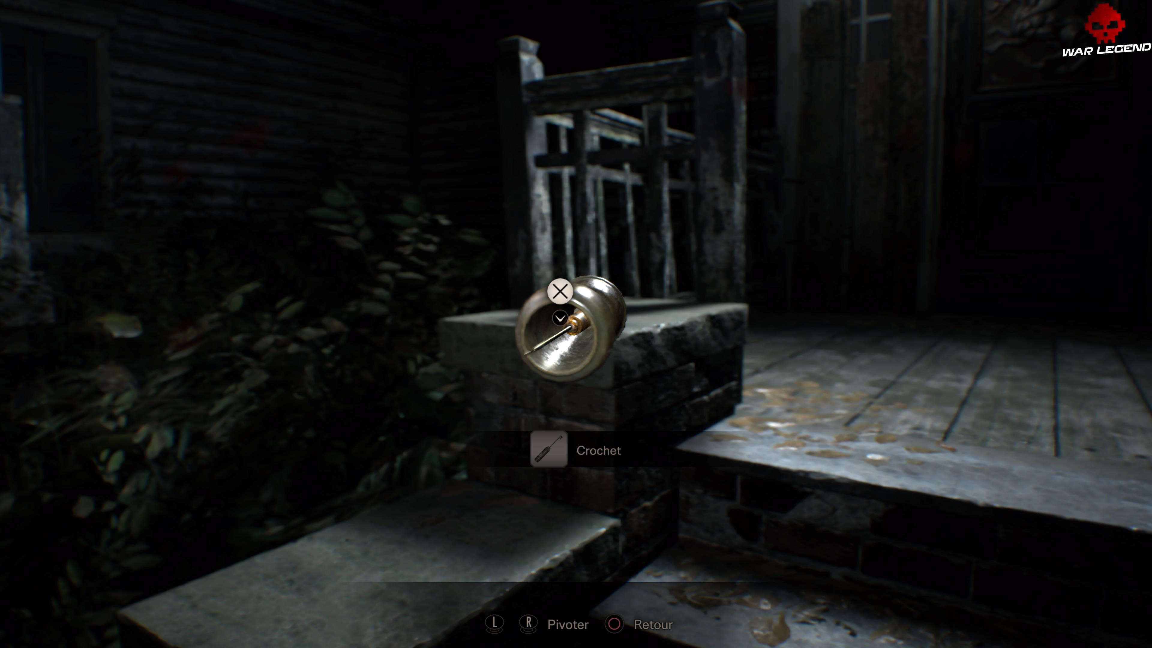 Solution Resident Evil 7 Biohazard - Chapitre 4 crochet à l'intérieur d'un pot