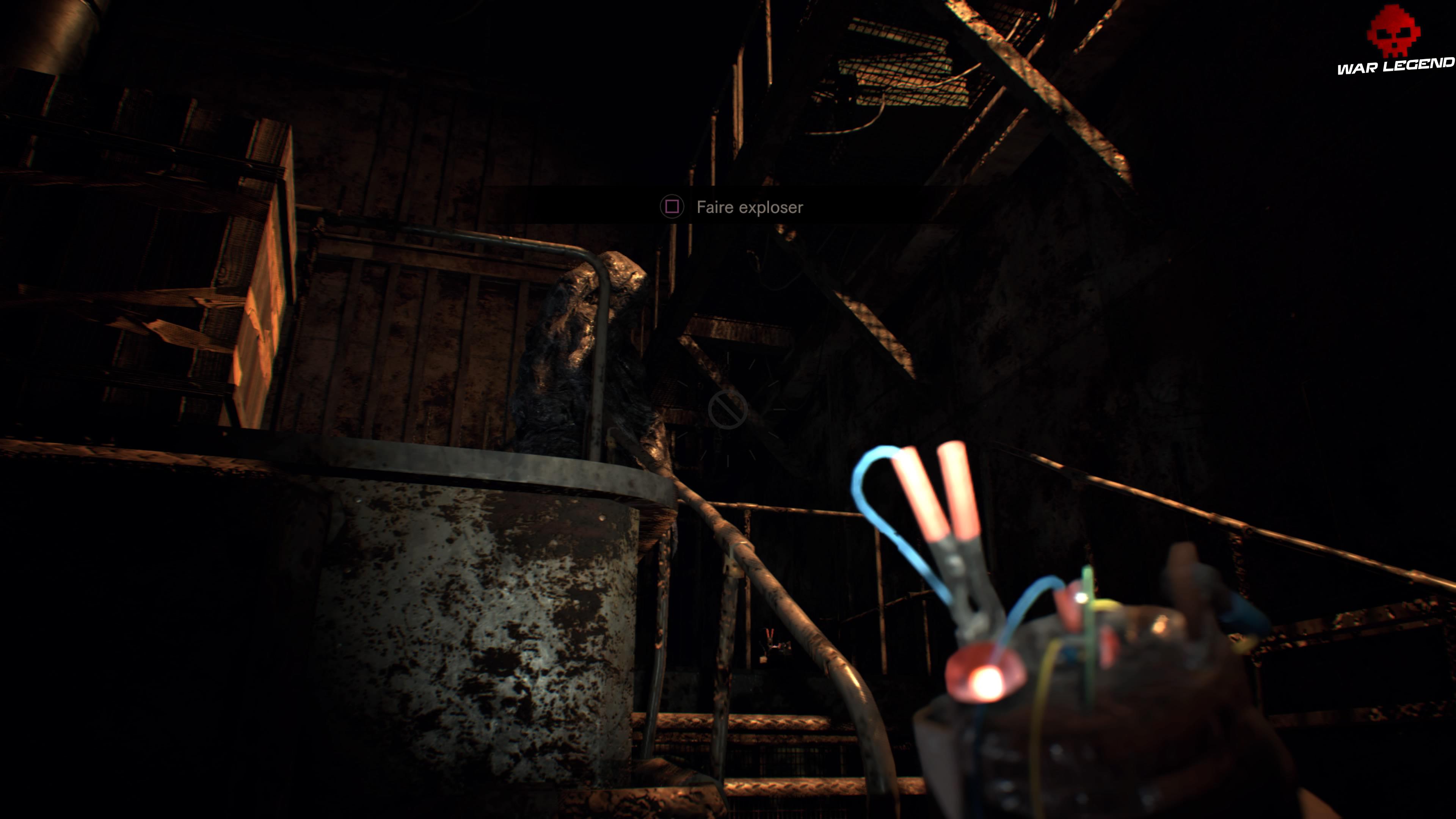 Solution Resident Evil 7 Biohazard Chapitre 7 monstre cracheur d'acide