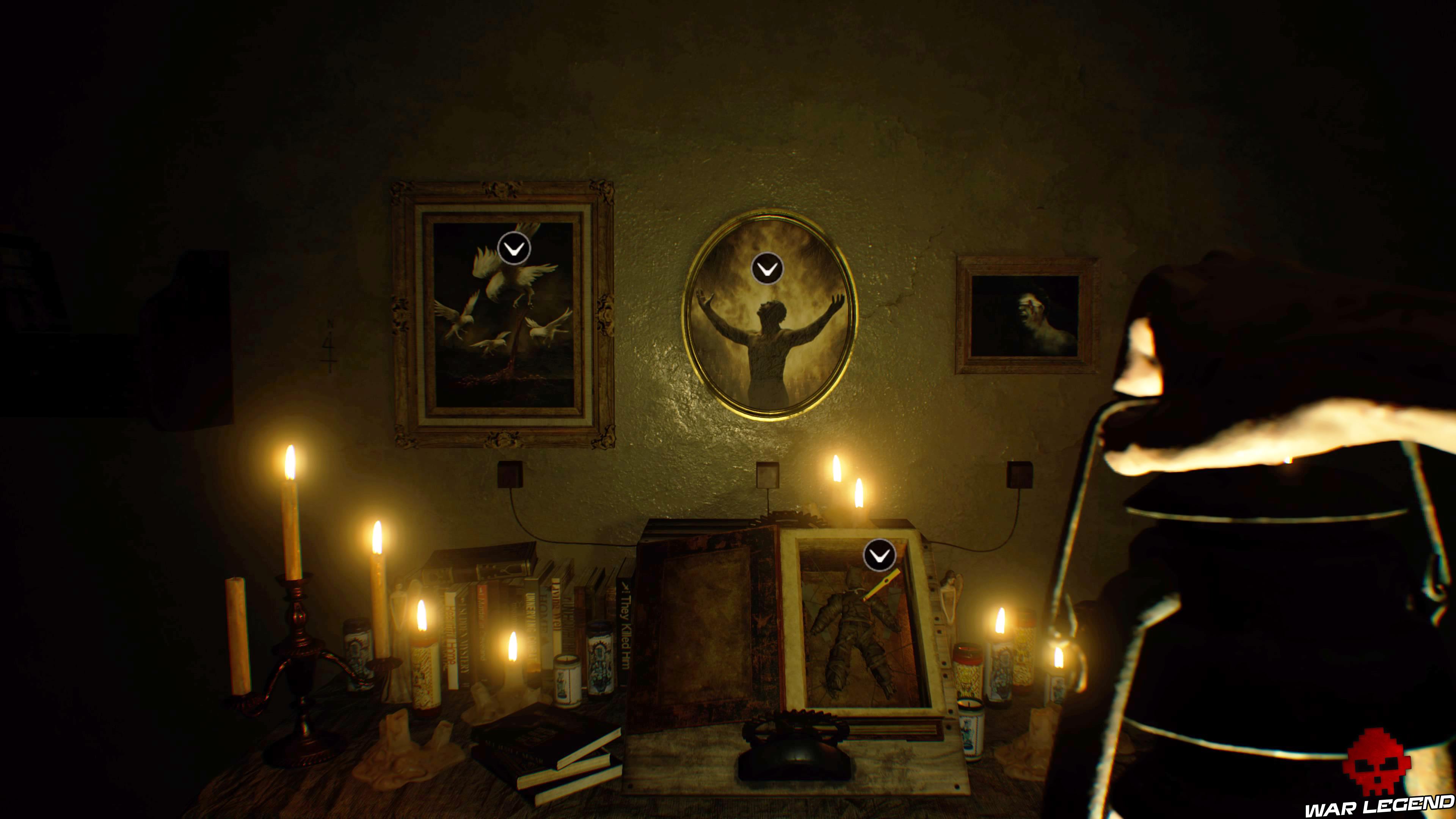 Solution Resident Evil 7 Biohazard - La chambre tableaux