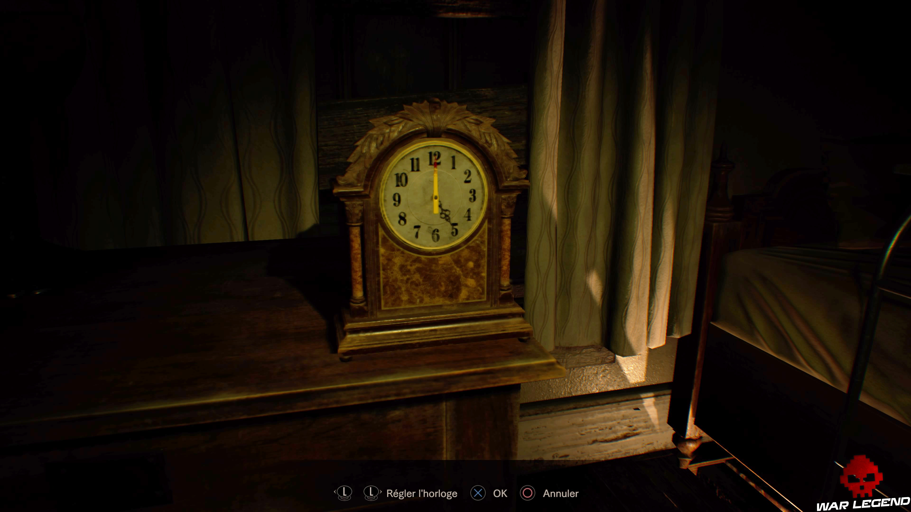 Solution Resident Evil 7 Biohazard - La chambre horloge