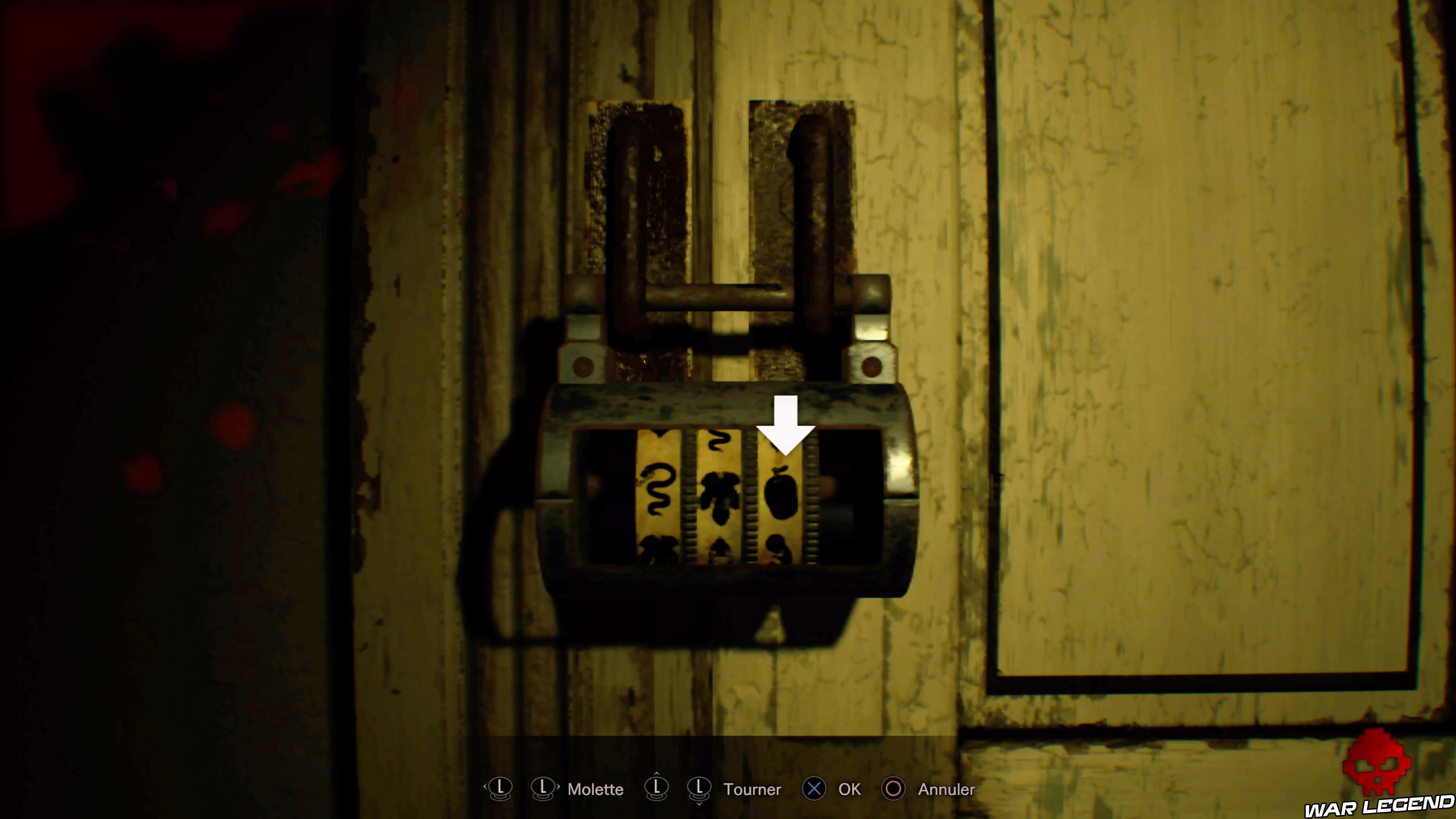 Solution Resident Evil 7 Biohazard - La chambre code porte