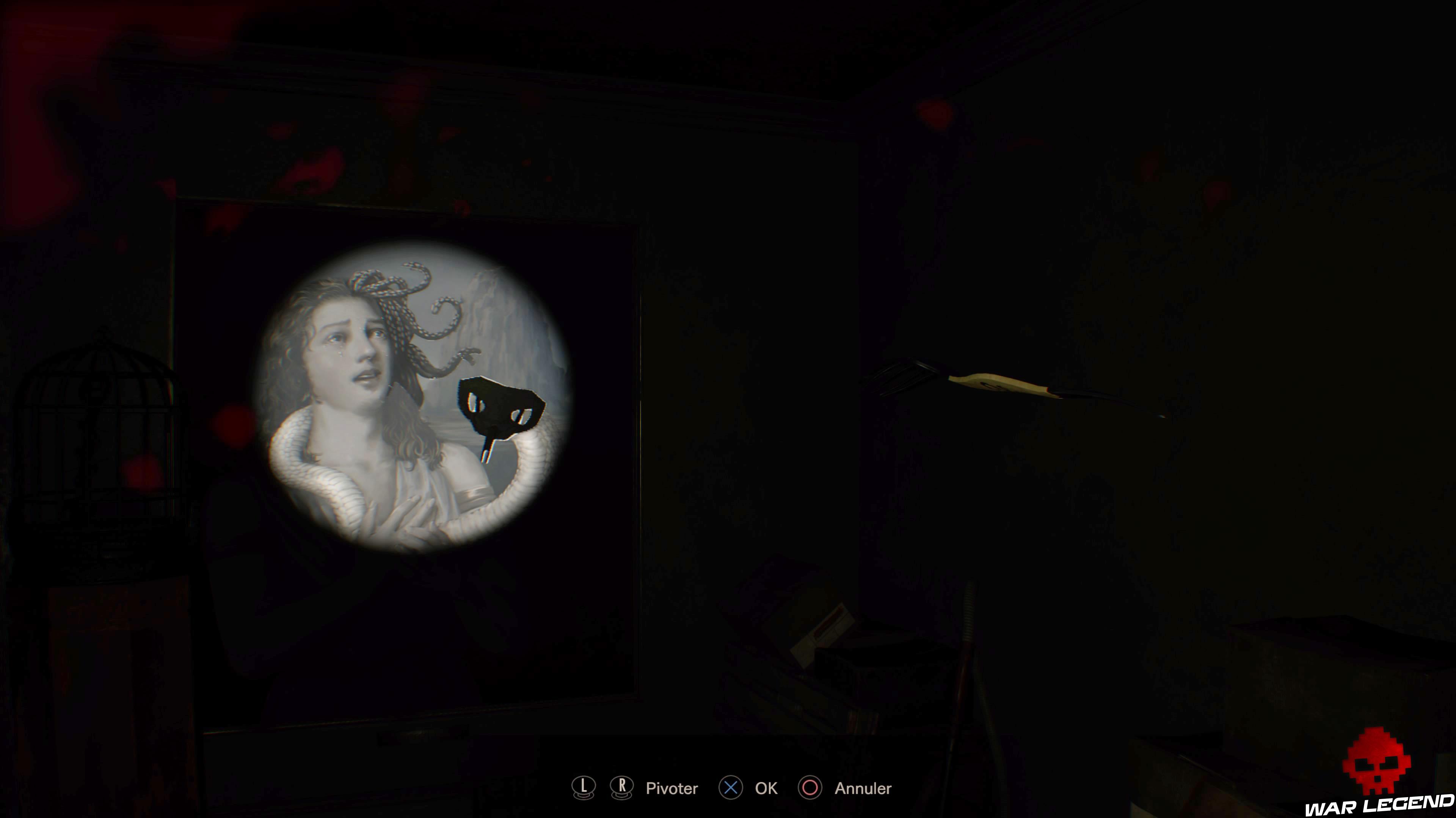 Solution Resident Evil 7 Biohazard - La chambre ombre tête de serpent