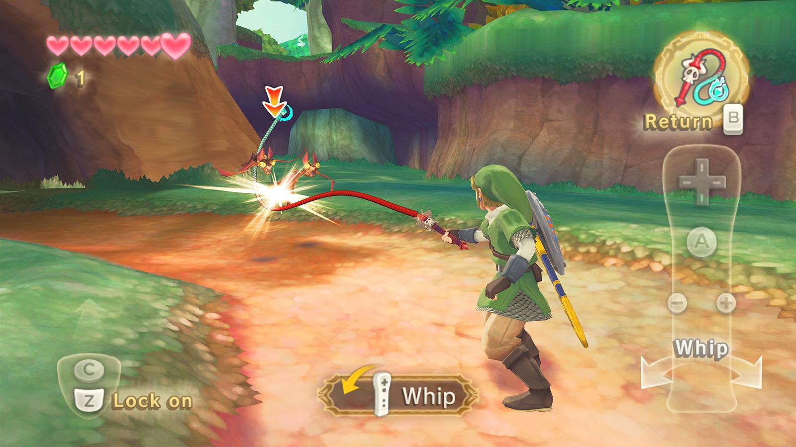 Skyward sword screenshot whip