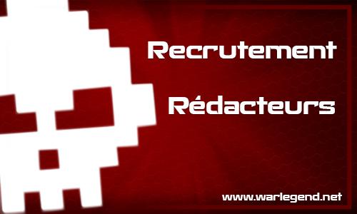 War Legend recrute des rédacteurs MMORPG