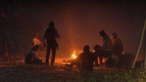 Red Dead Redemption 2 screenshot bandits au coin du feu