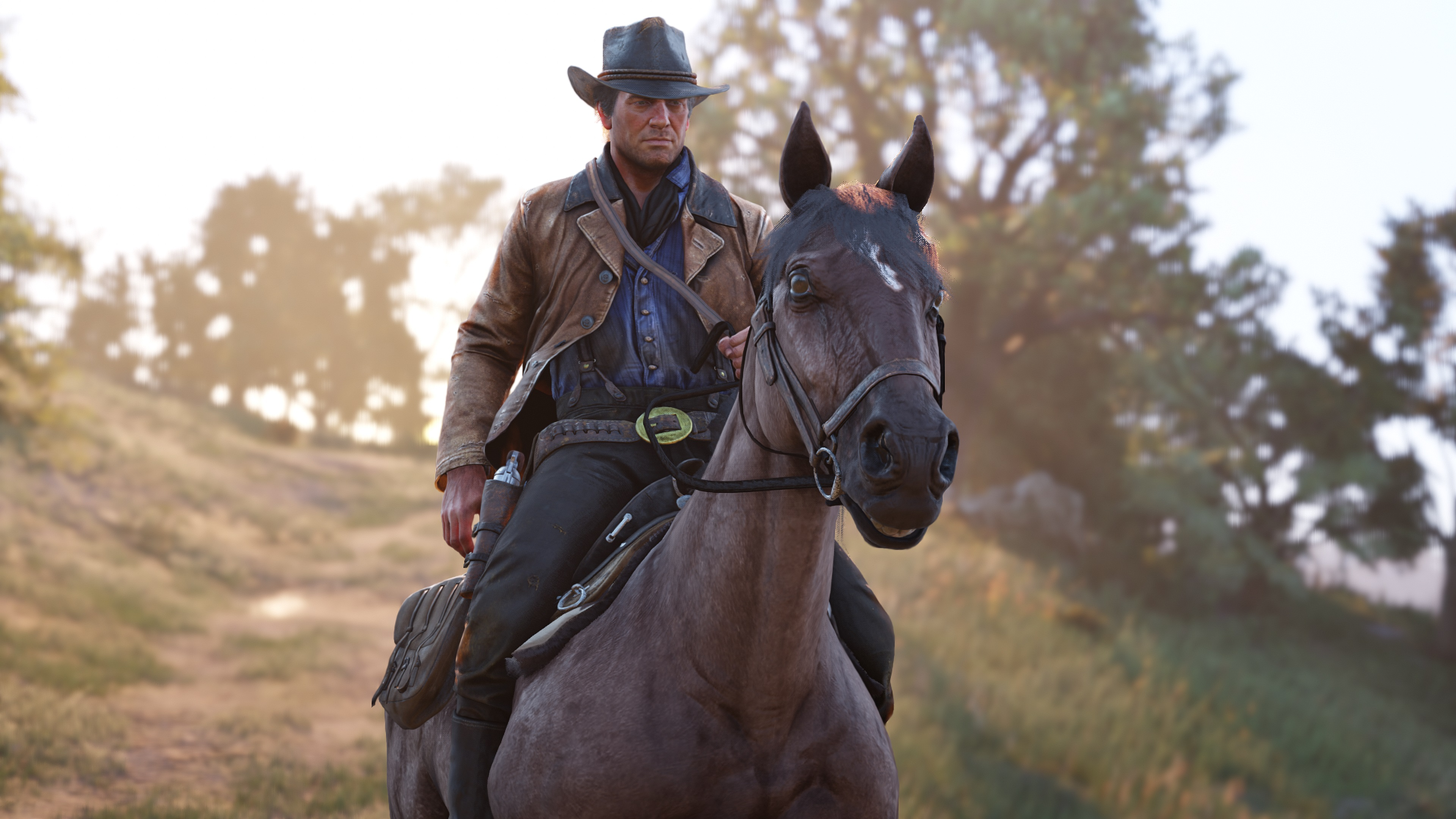 Test Red Dead Redemption 2 screenshot morgan à cheval