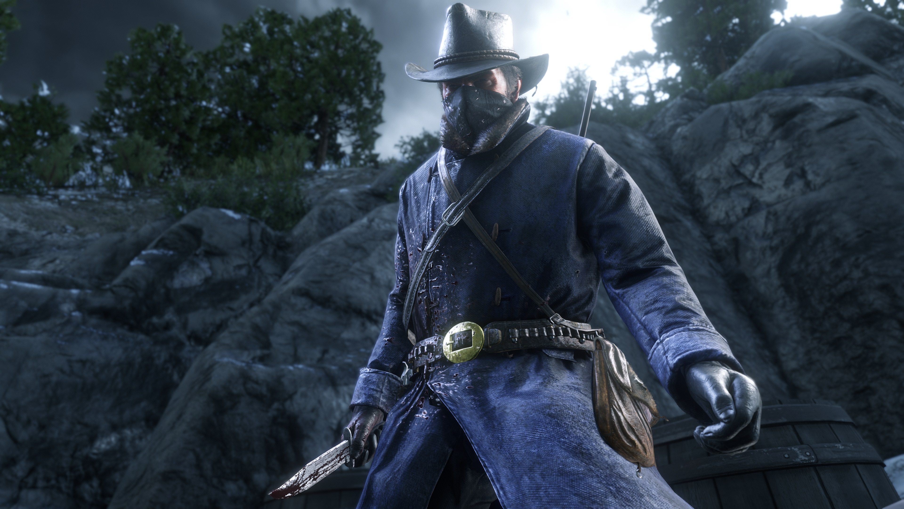 Red Dead Redemption 2 screenshot morgan déguisé en soldat