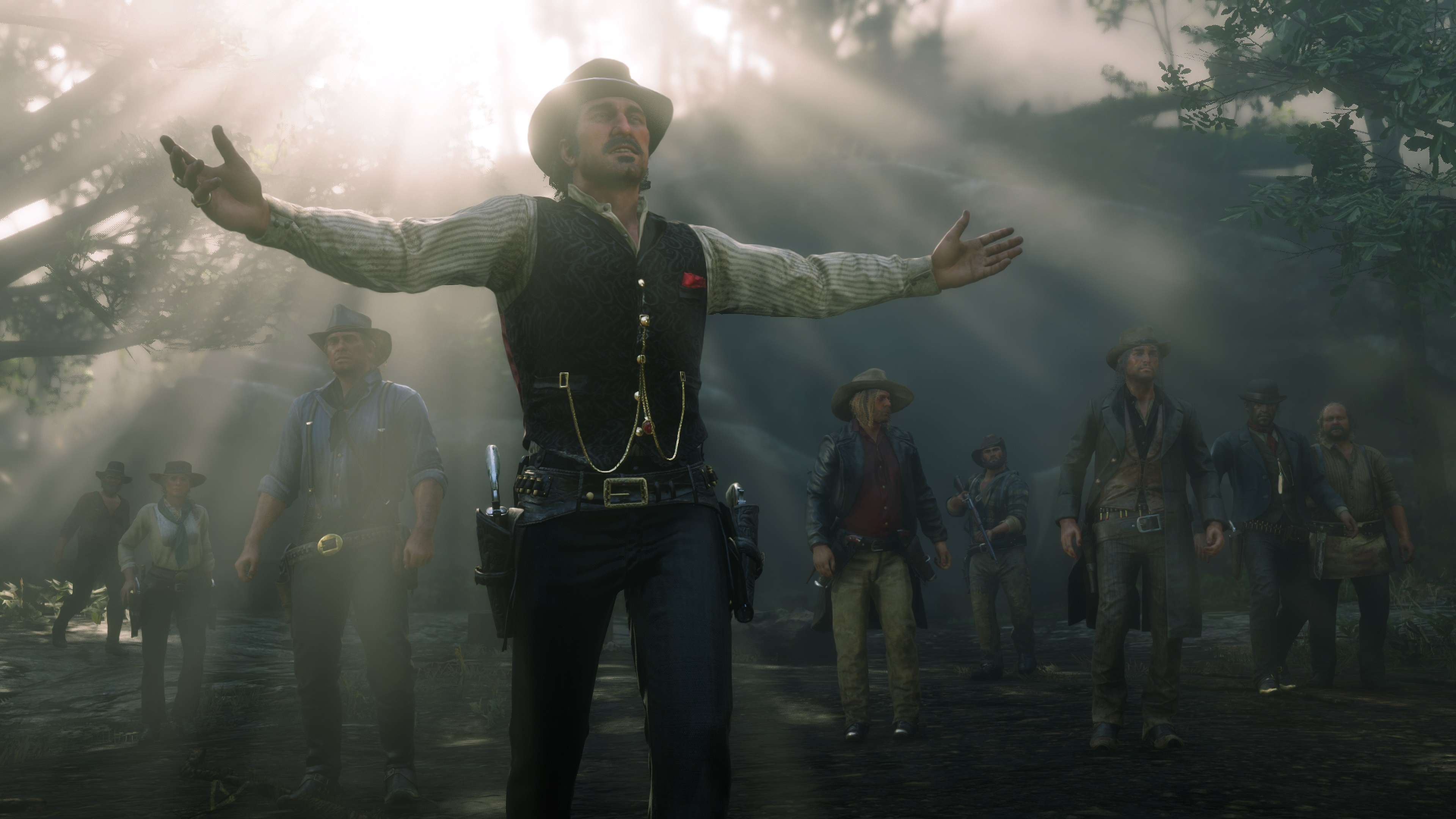 Red Dead Redemption 2 screenshot bandit bras tendus