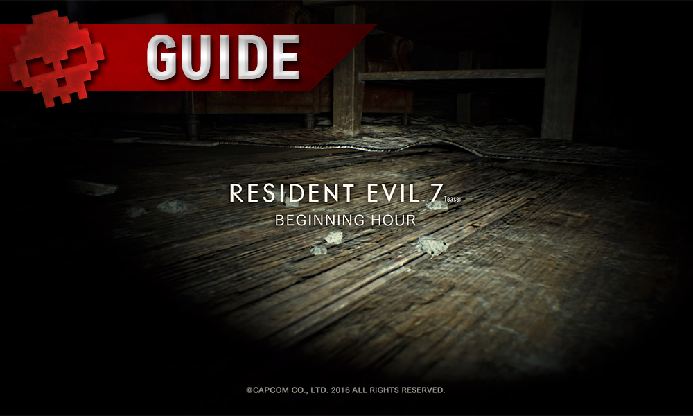 Guide Resident Evil 7 - Débloquer du contenu exclusif pour le jeu final parquet logo du jeu