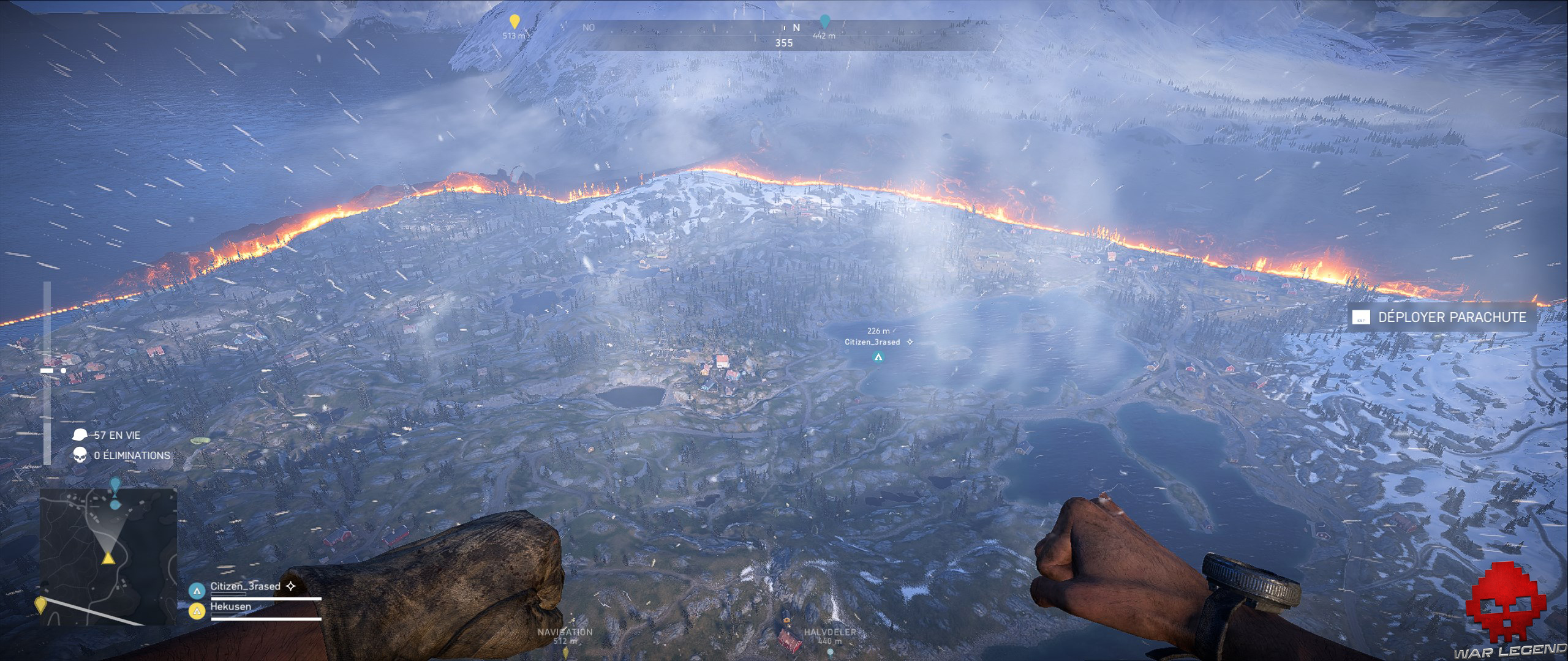 Retest battlefield V carte vue aérienne