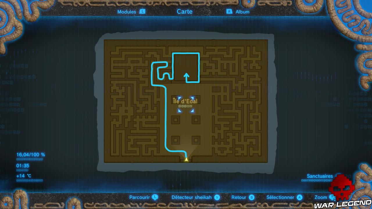 Soluce The Legend of Zelda: Breath of the Wild - Sanctuaires d'Akkala carte