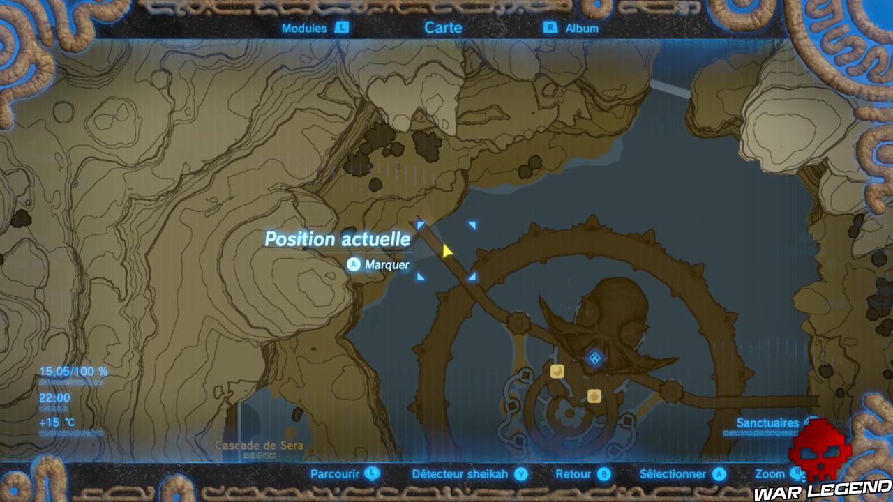 Soluce The Legend of Zelda: Breath of the Wild - Sanctuaires de Lanelle carte