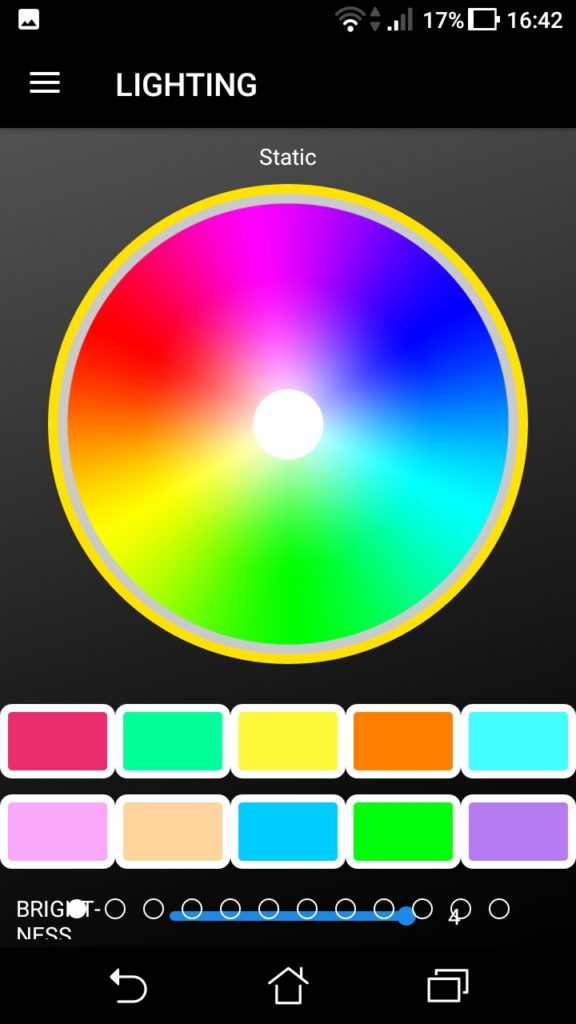 L'application mobile du X1 RGB
