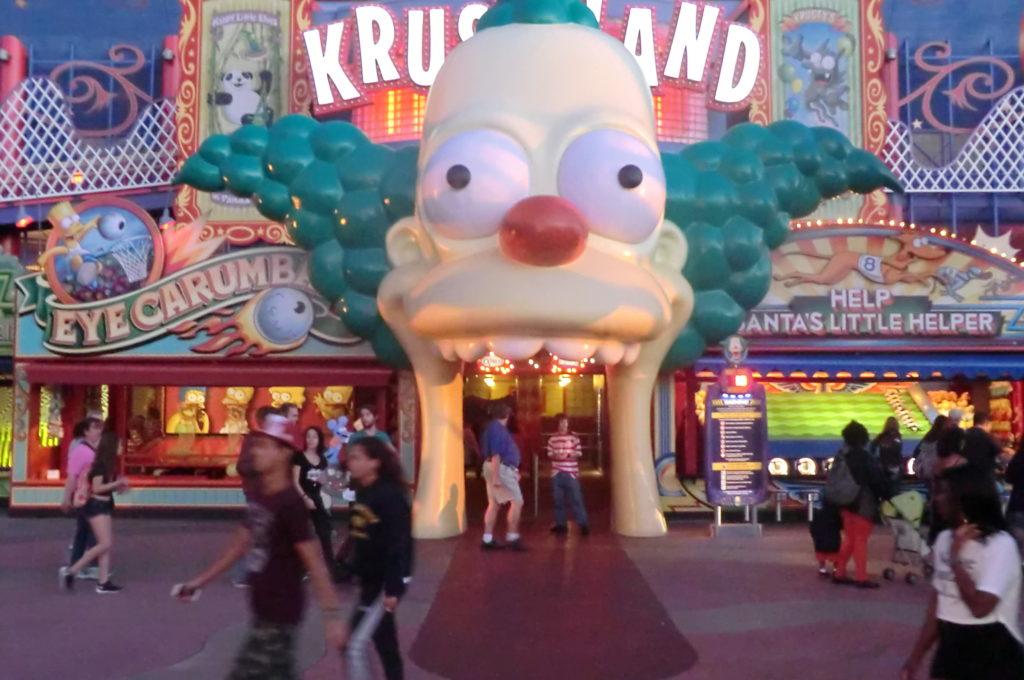 Nintendo - Trois parcs à thème en chantier - L'attraction The Simpsons Ride