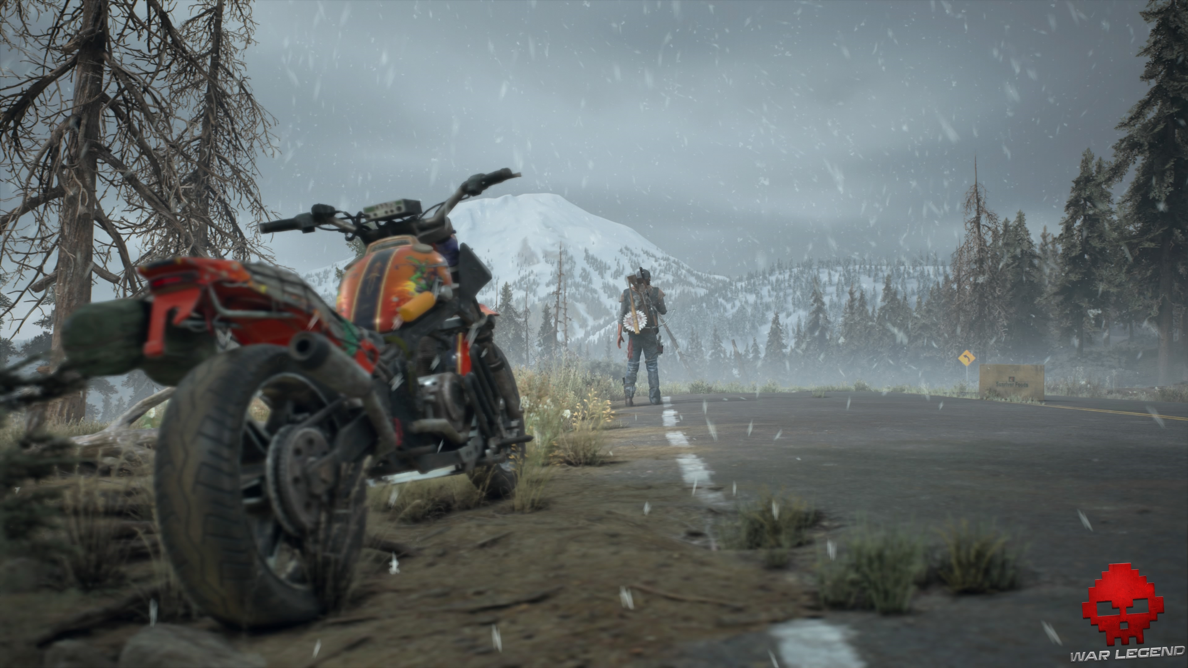 Test Days Gone - deacon loin devant sa moto