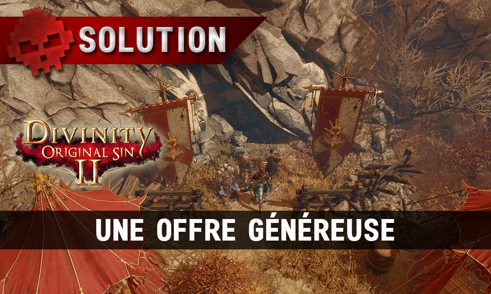 Soluce Divinity: Original Sin 2 - Une Offre Généreuse