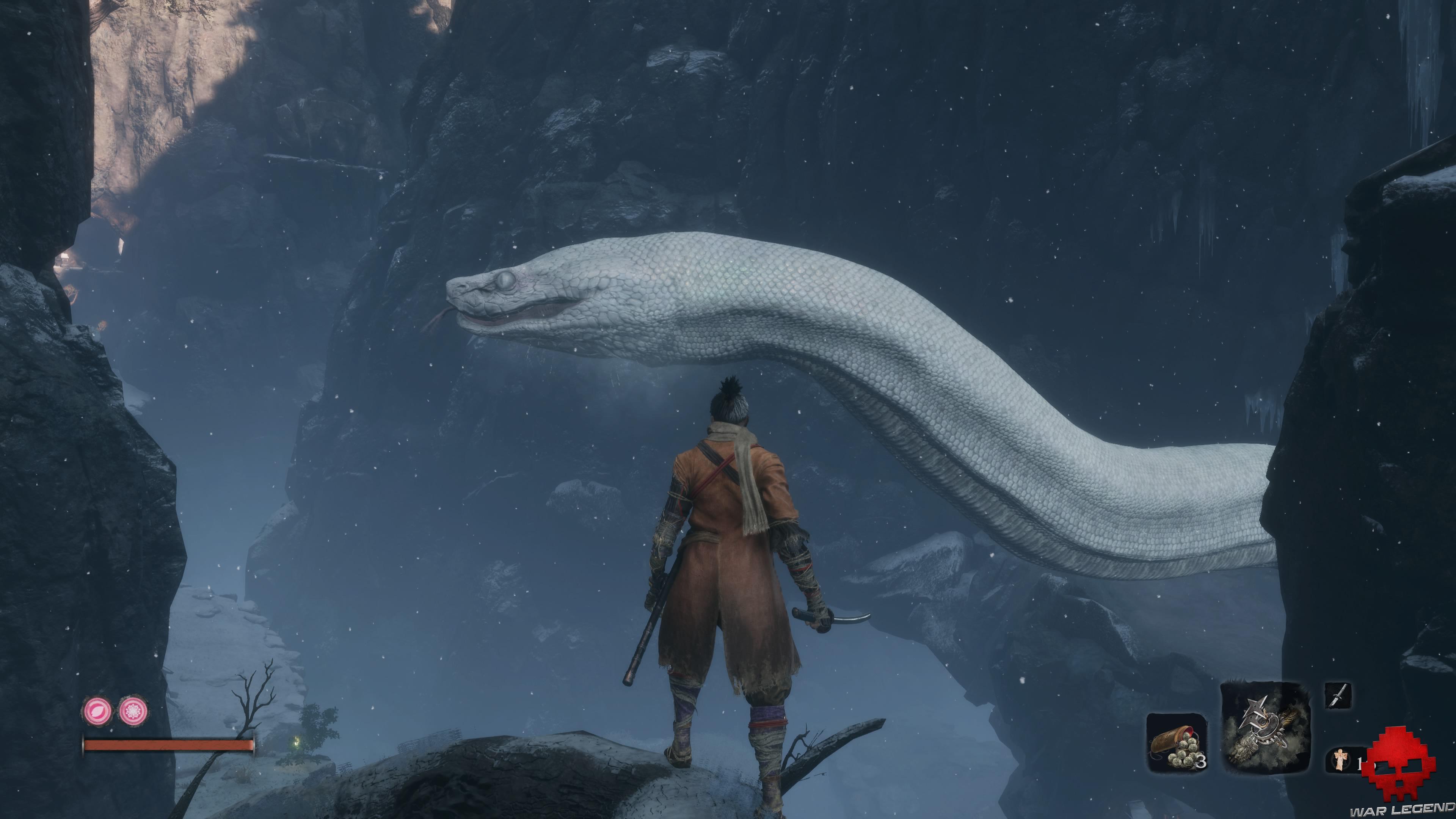 Soluce Sekiro les alentours d'ashina serpent géant