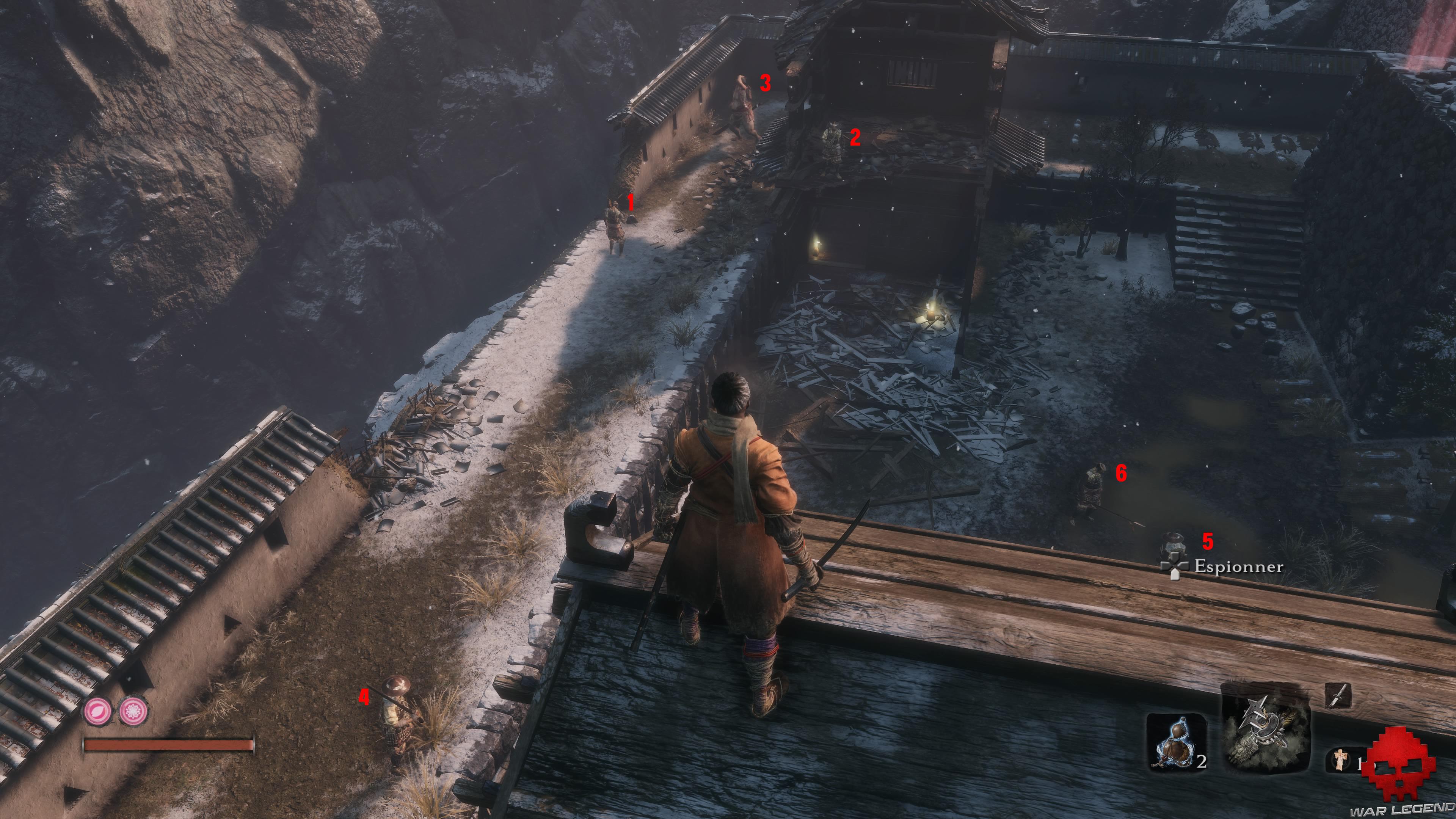 Soluce Sekiro les alentours d'ashina gardes ennemis