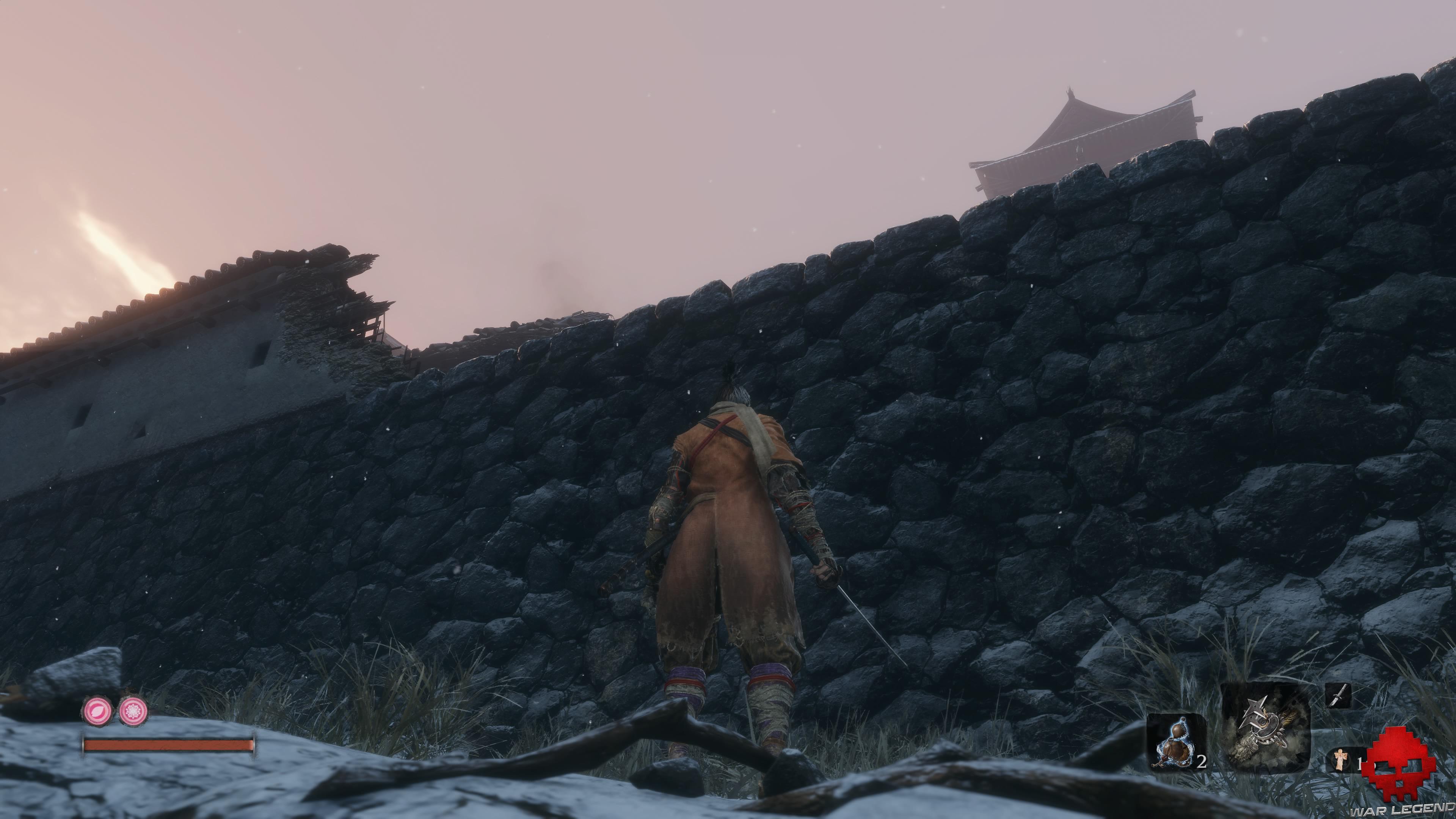 Soluce Sekiro les alentours d'ashina muraille détruite