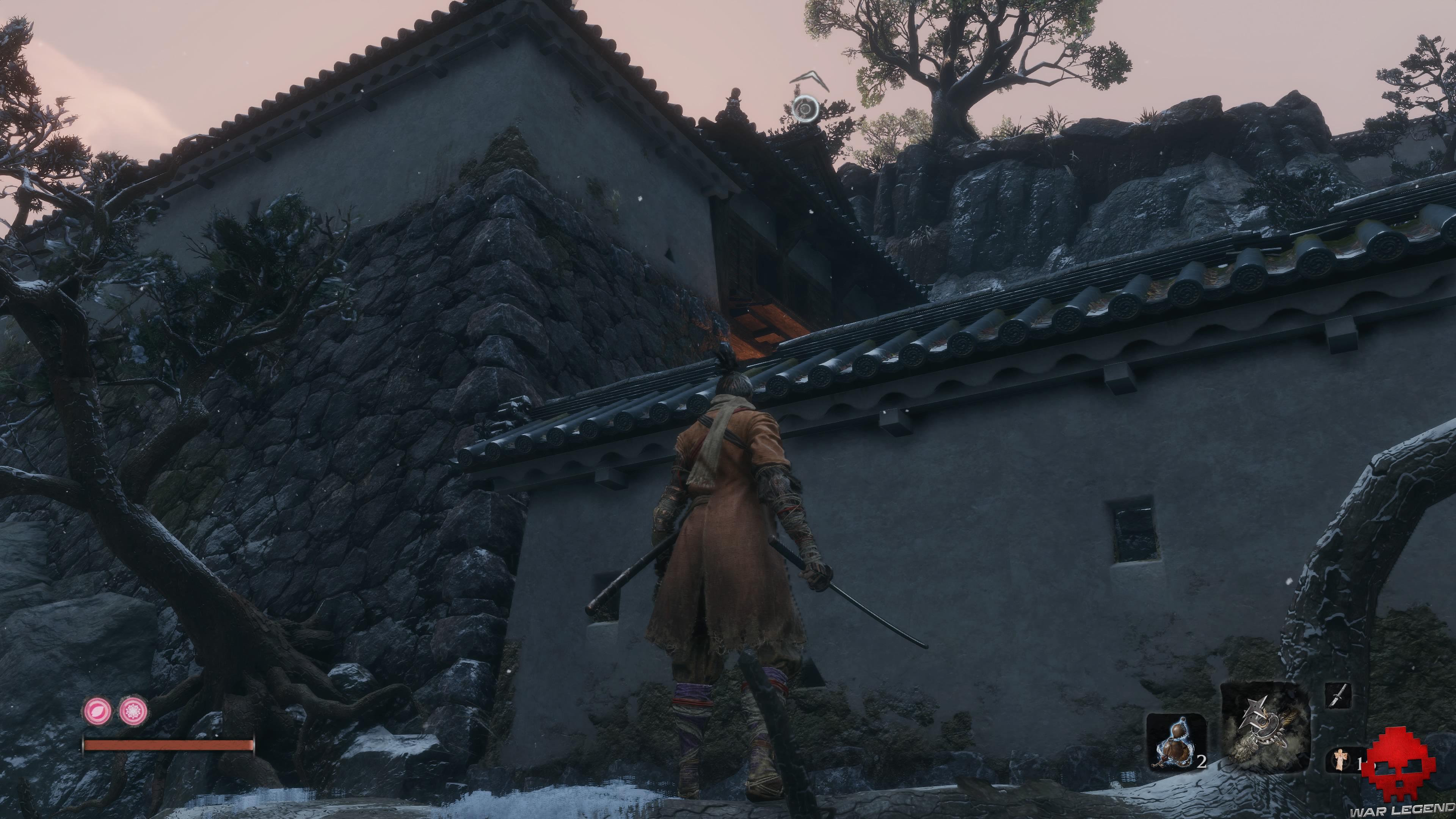 Soluce Sekiro les alentours d'ashina branche pour accéder muraille