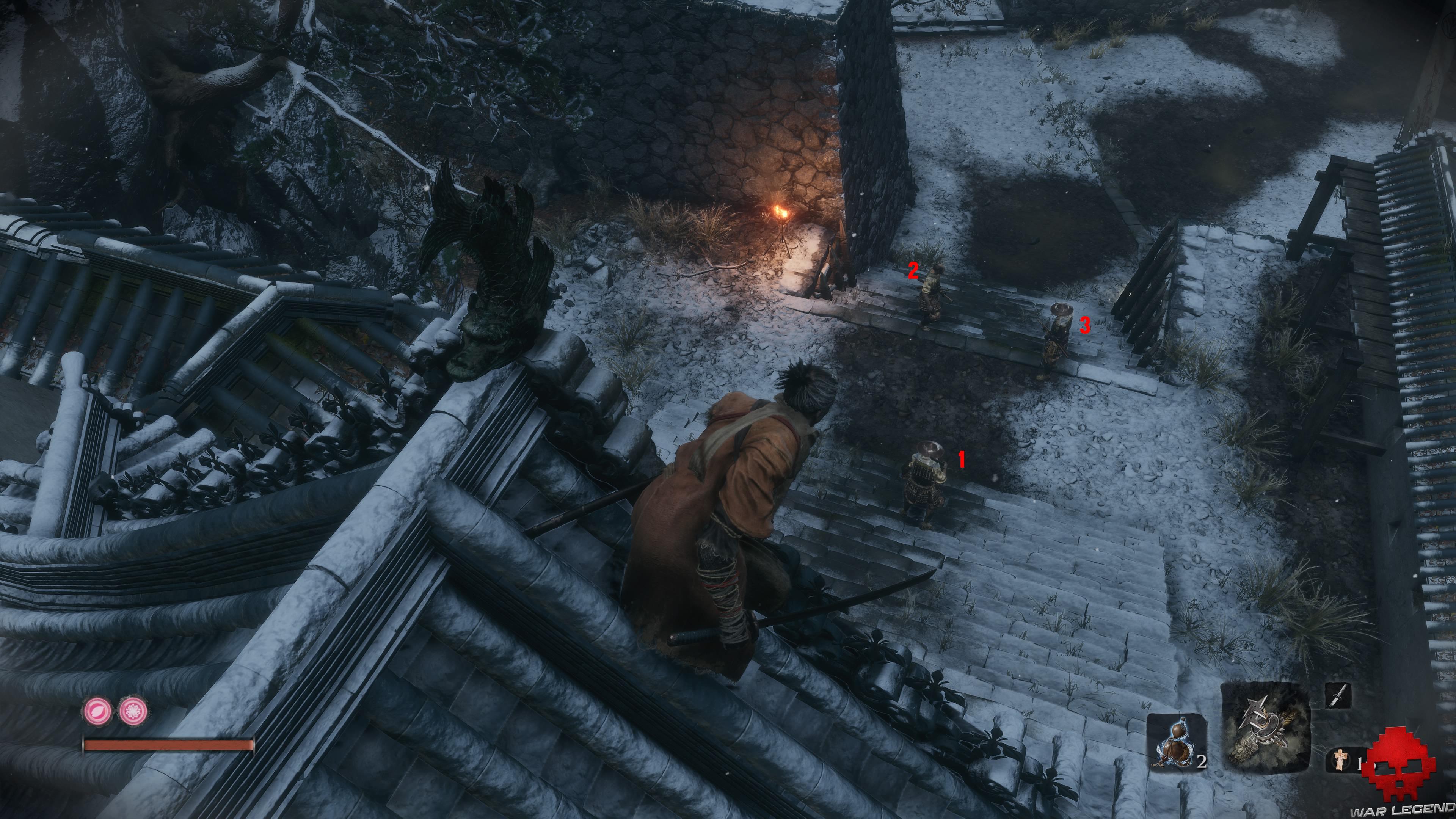 Soluce Sekiro les alentours d'ashina 3 ennemis