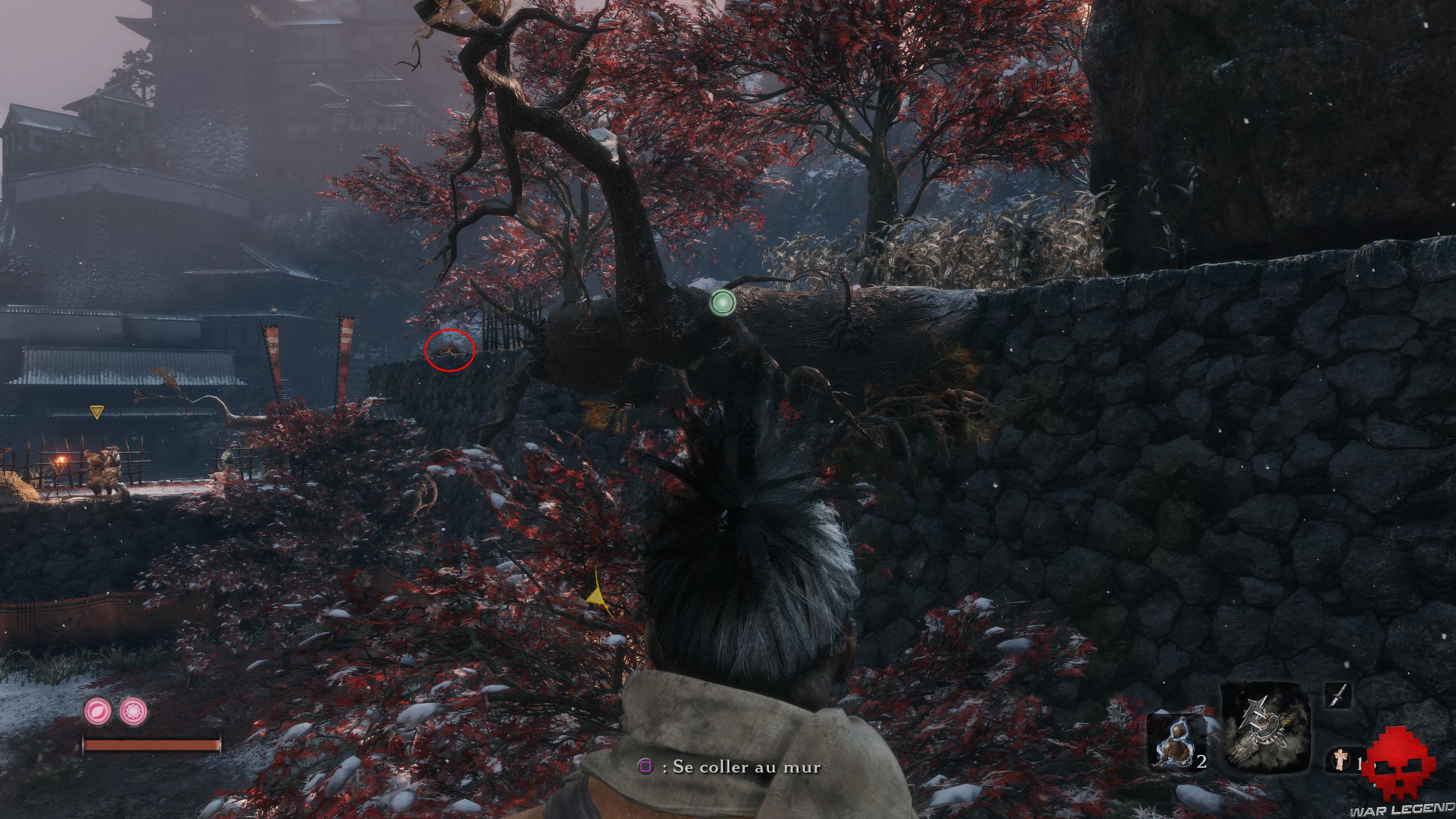 Soluce Sekiro les alentours d'ashina sonneuse d'alarme
