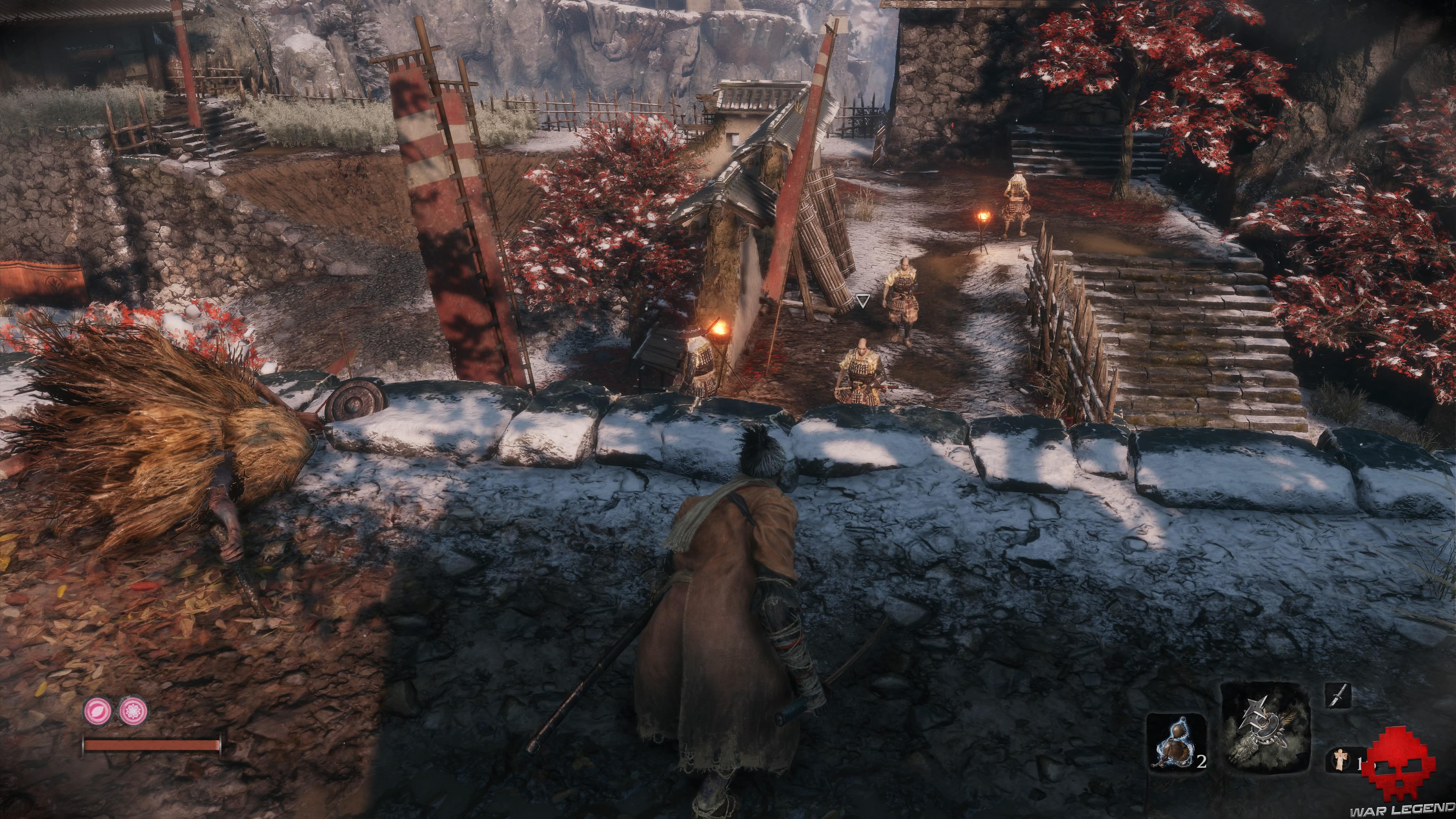 Soluce Sekiro les alentours d'ashina ennemis en patrouille
