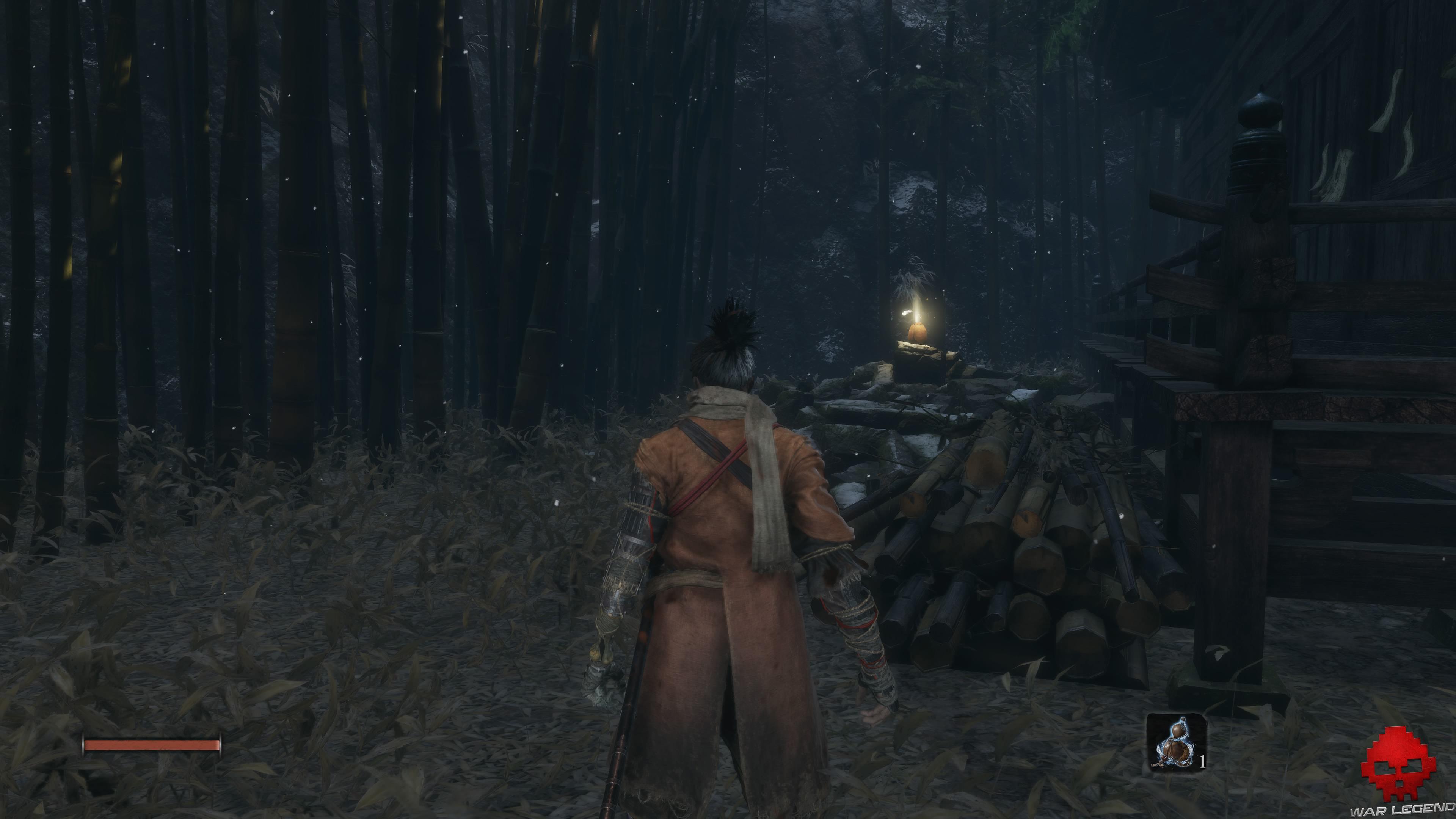 Soluce Sekiro les alentours d'ashina partie 1 petite bourse derrière maison