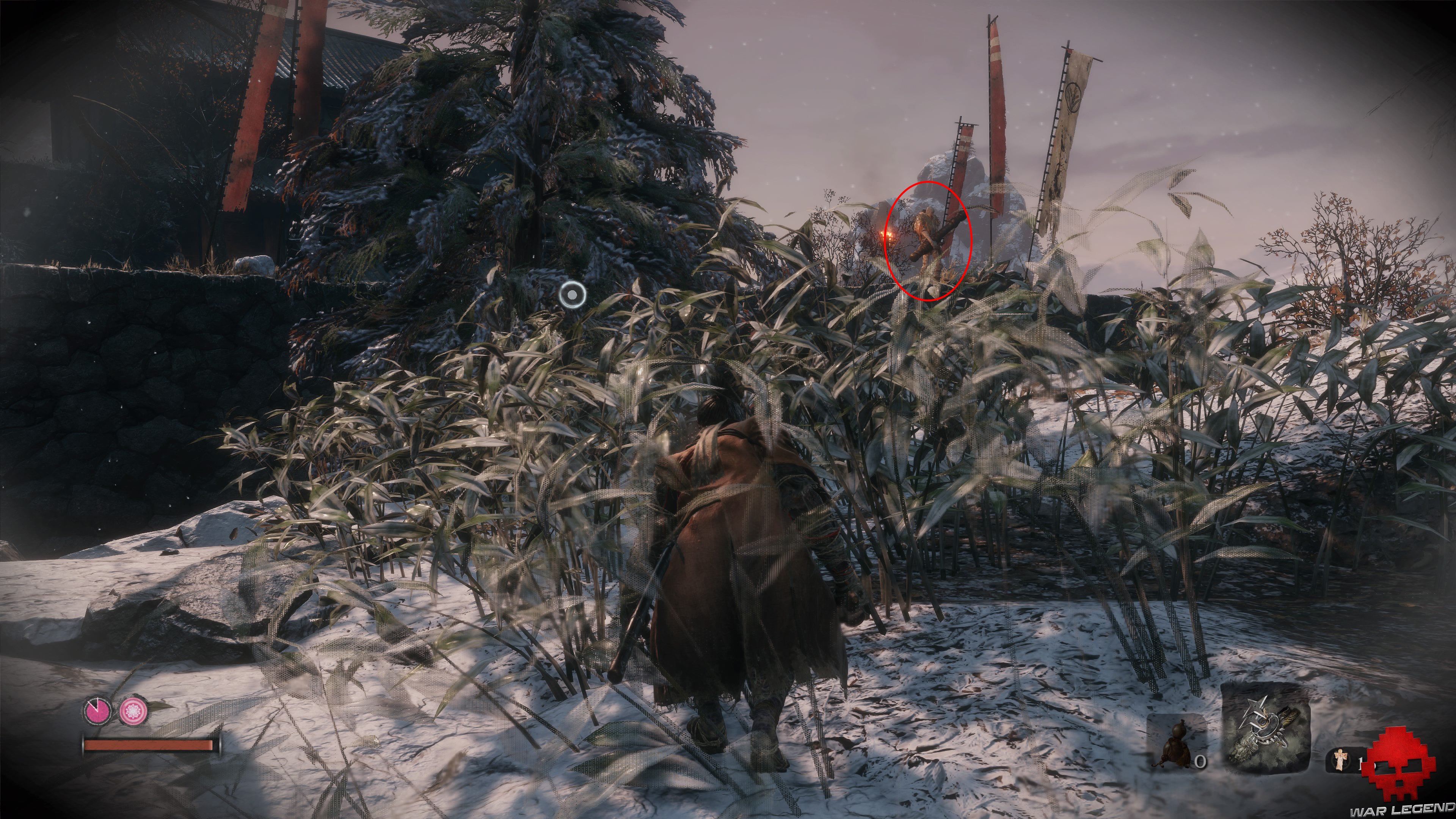 Soluce Sekiro les alentours d'ashina partie 1 ennemi avec canon