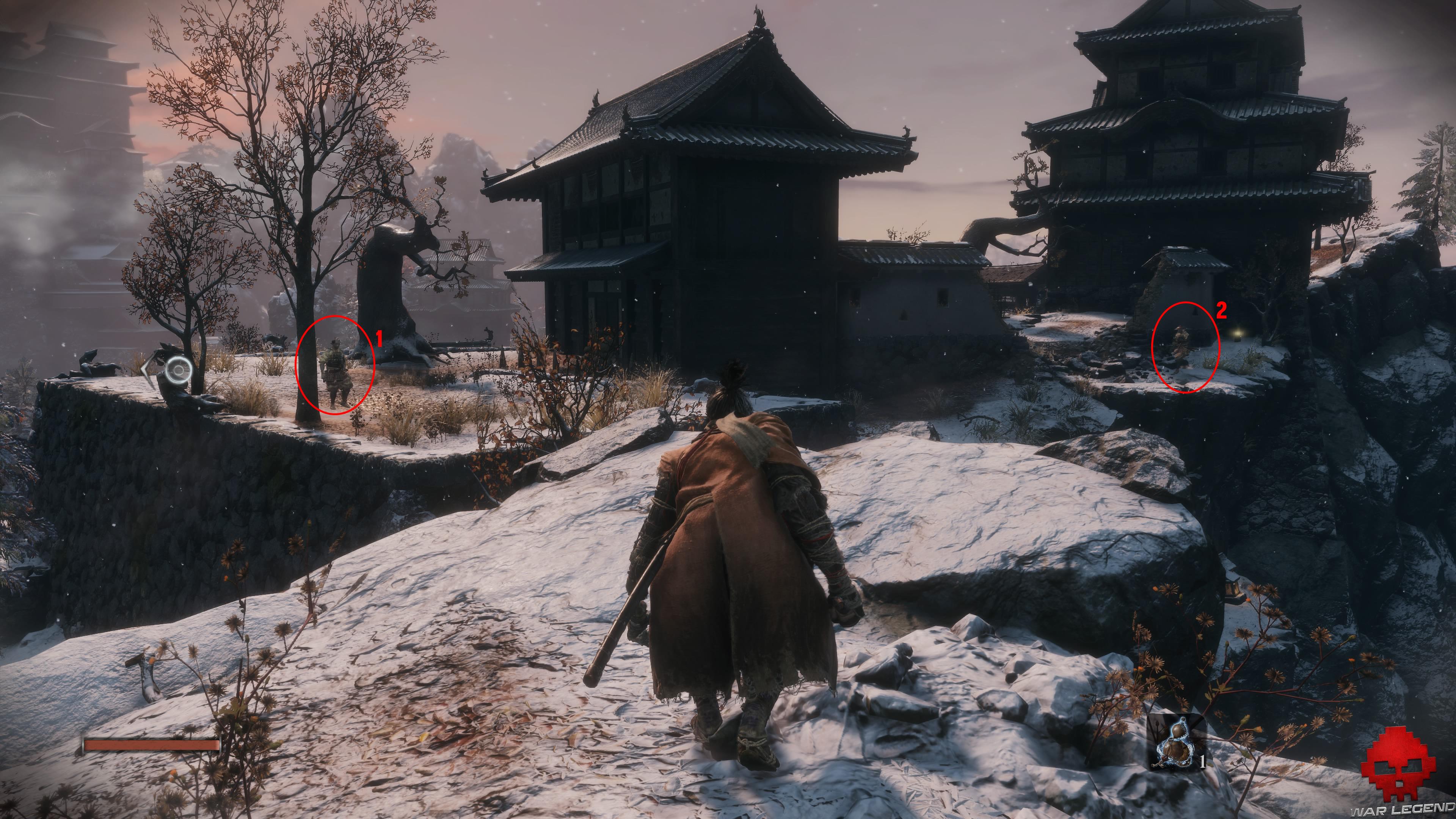 Soluce Sekiro les alentours d'ashina partie 1 ennemis à éliminer