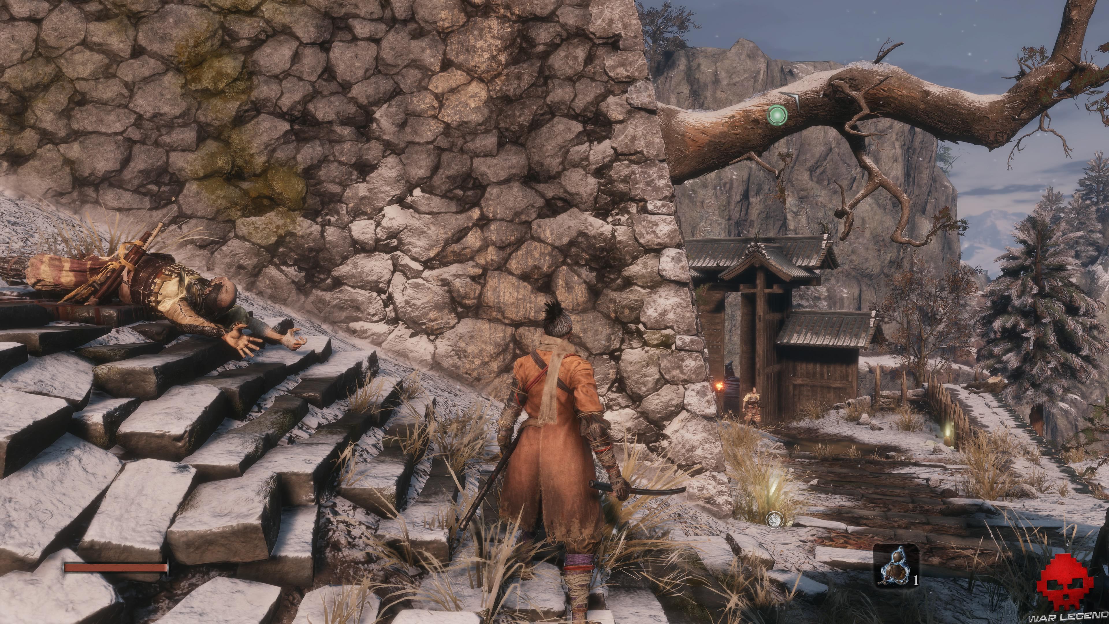 Soluce Sekiro les alentours d'ashina partie 1 soldat au loin