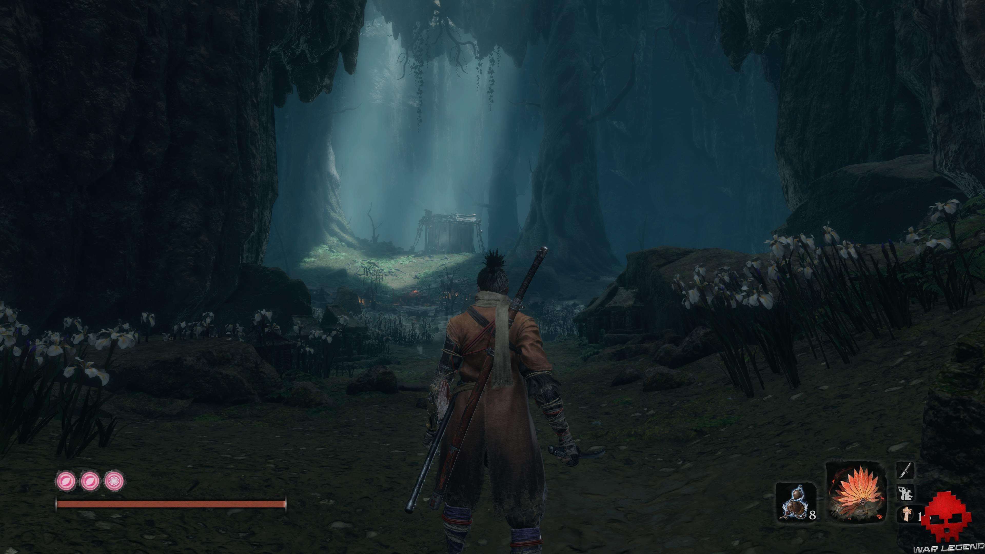 Soluce Sekiro profondeurs d'ashina illumination dans grotte