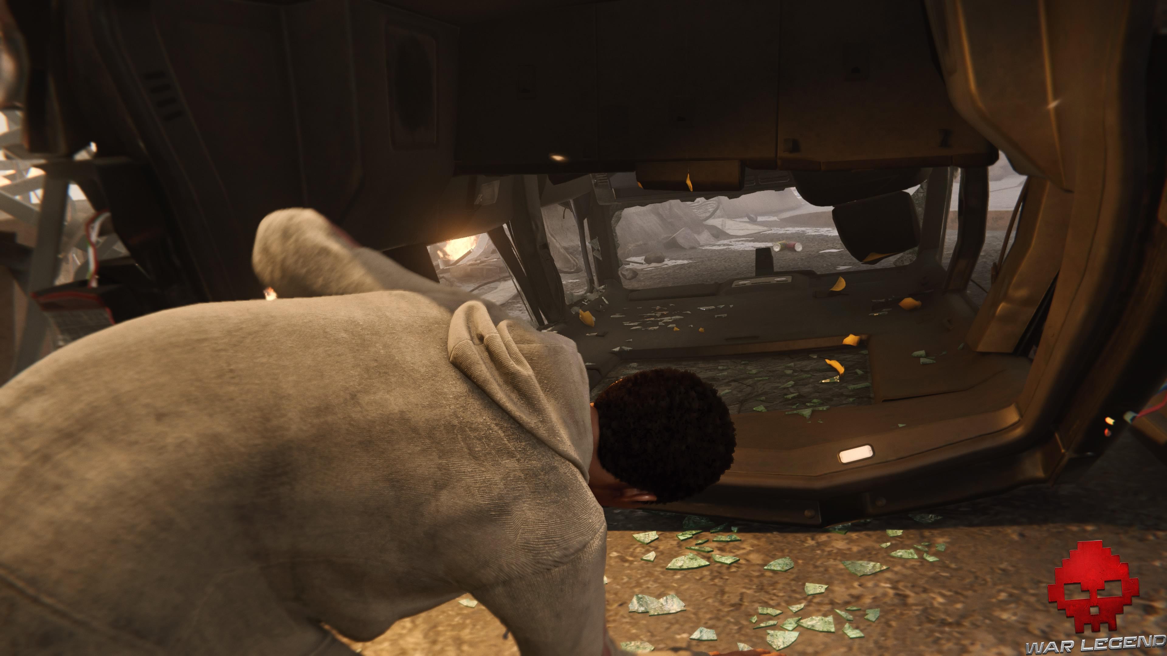 Soluce Spider-Man et ce prix revient à Miles passe dans l'habitacle d'une voiture renversée