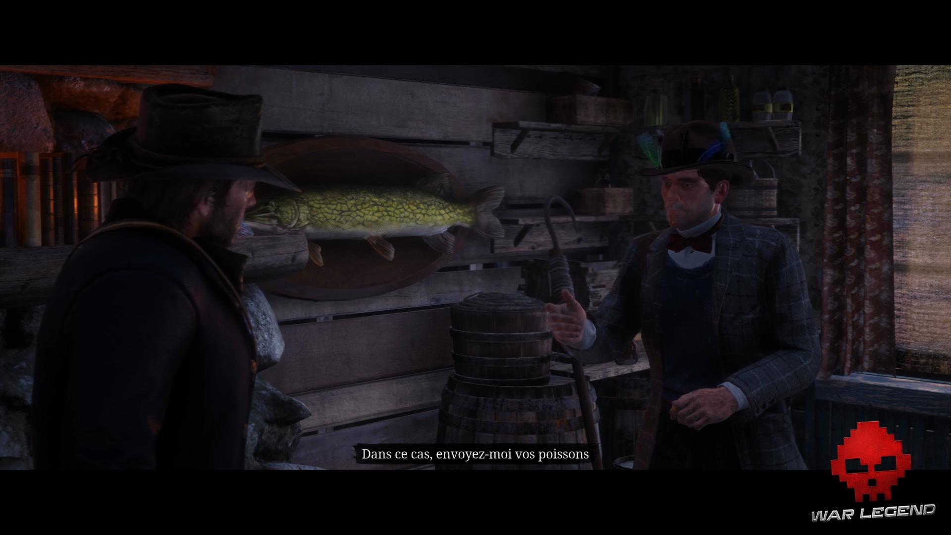 Soluce Red Dead Redemption 2 Pêcheur de poissons discussion avec Jeremy Gill