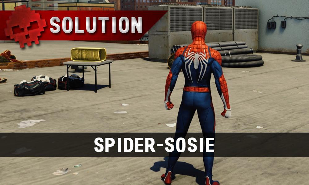 Vignette solution spider-sosie Spider-Man sur un toit