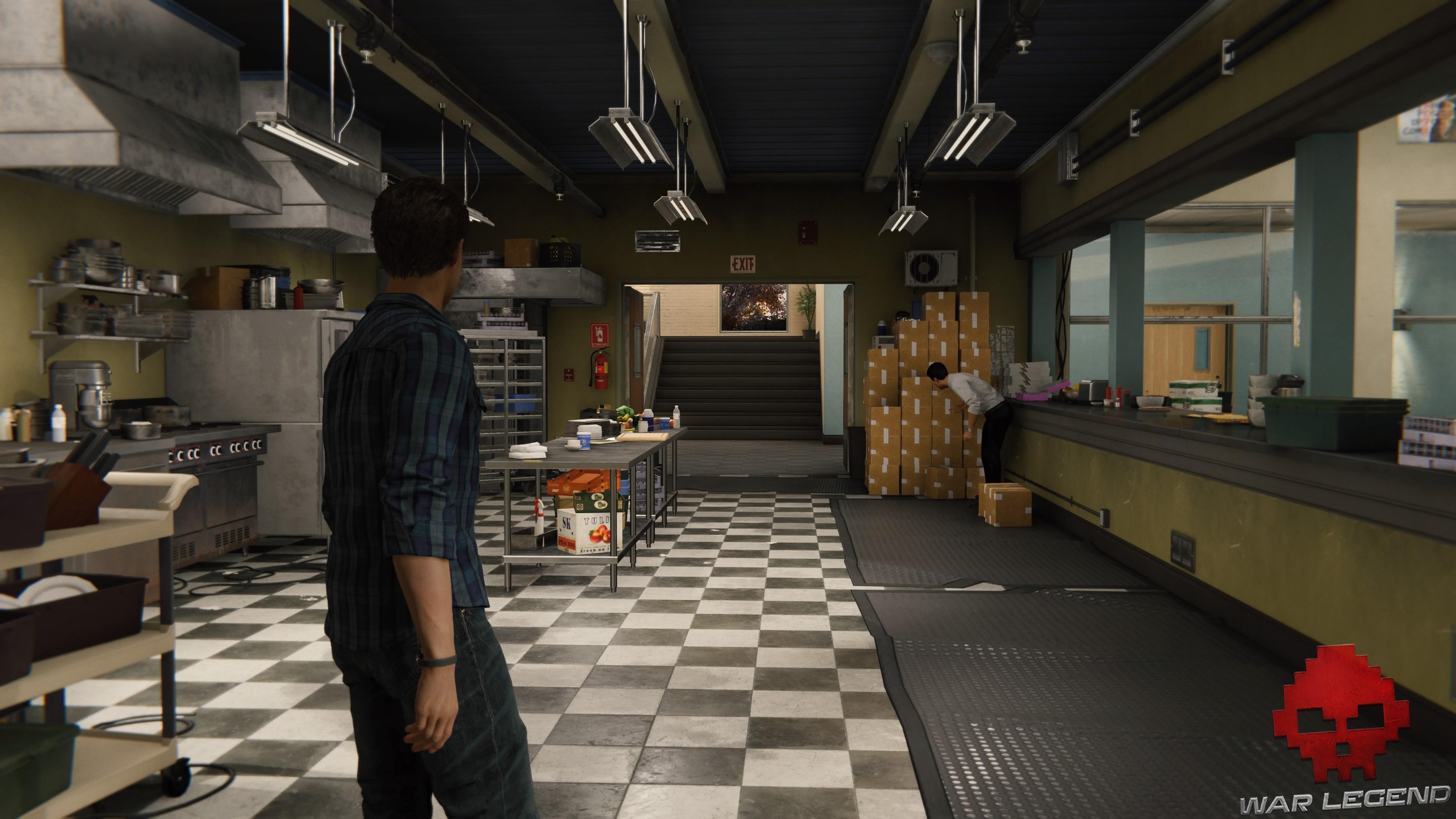 Peter Parker traverse une cuisine