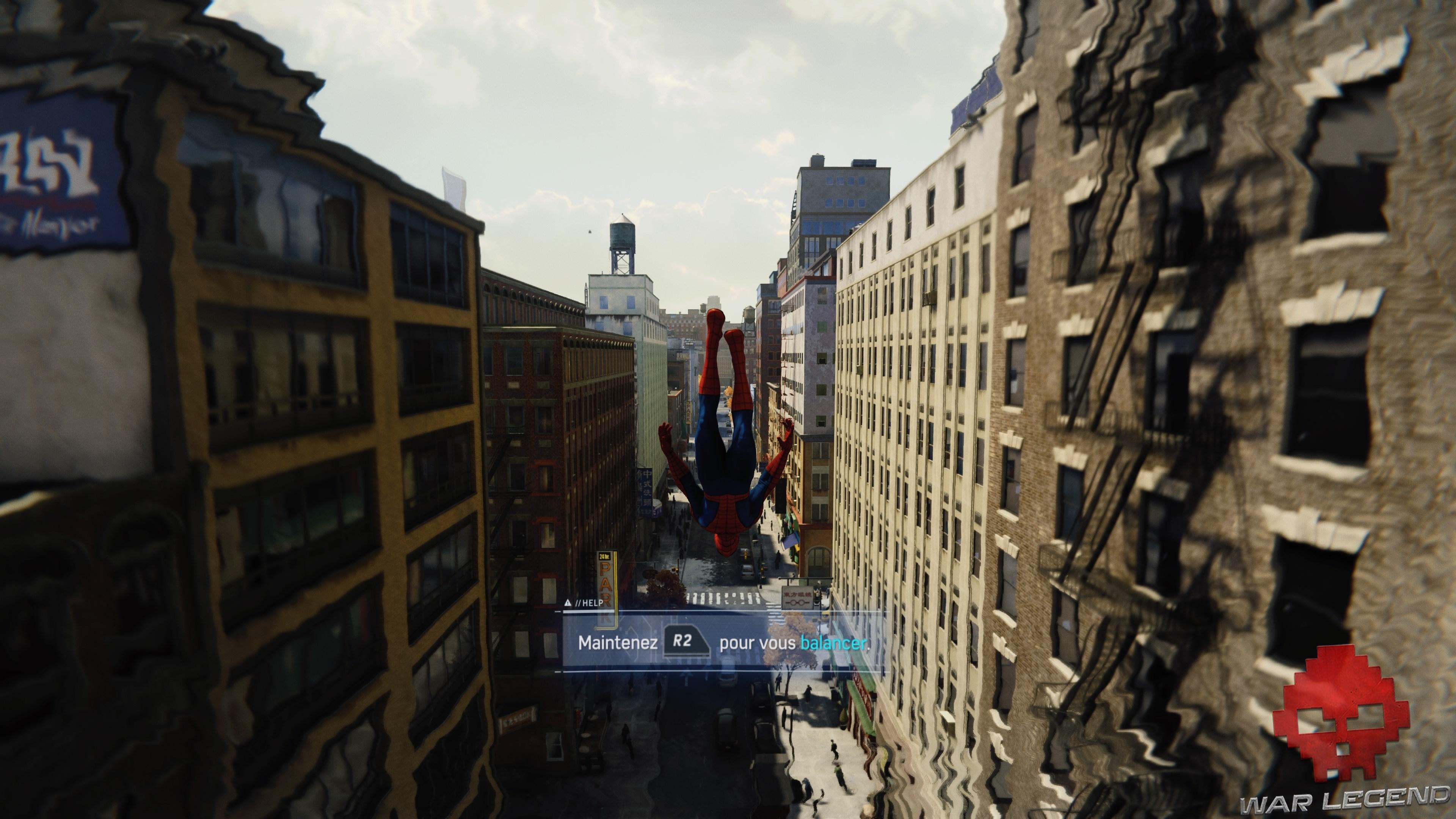Spider-Man en chute libre